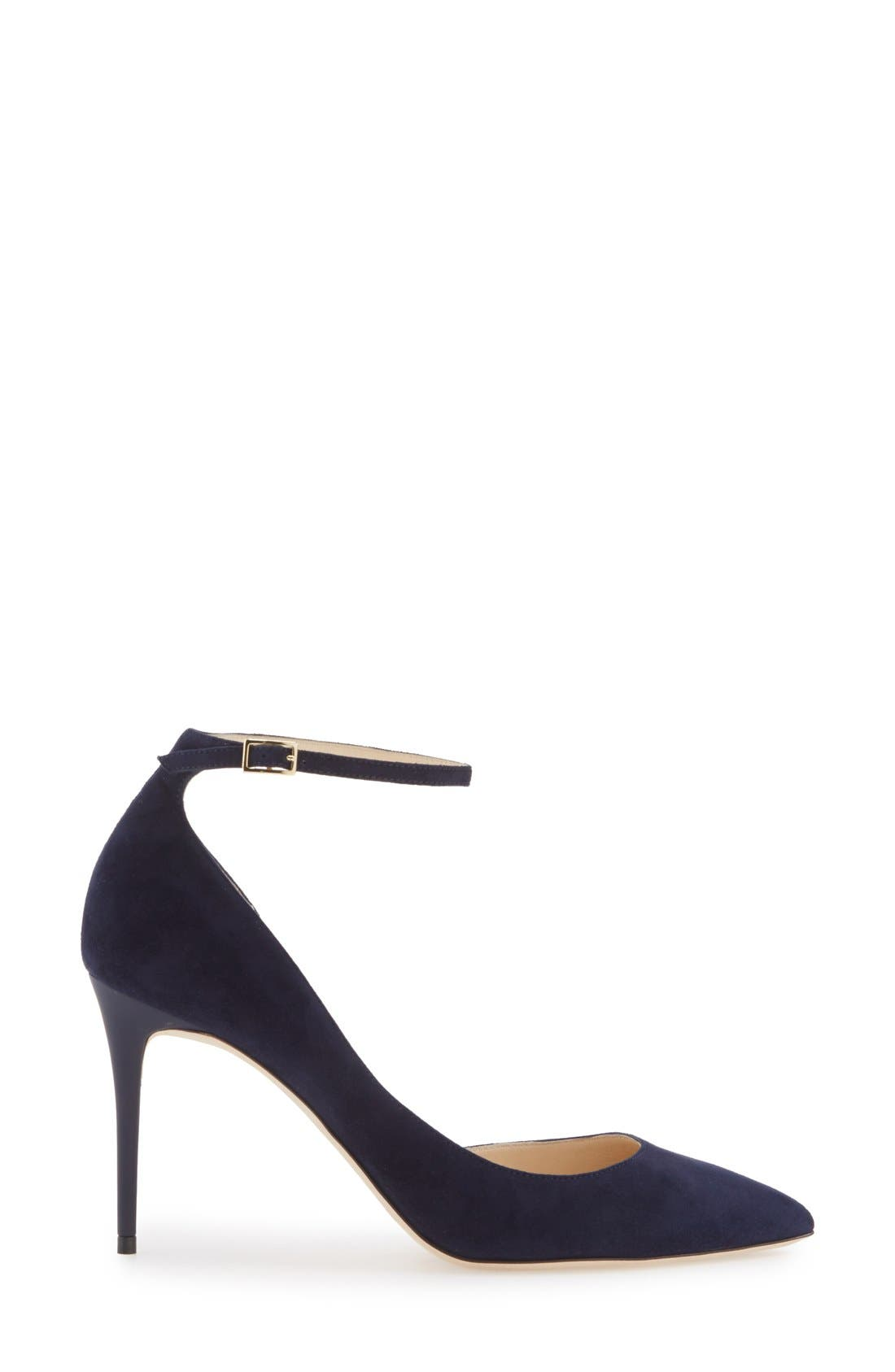 JIMMY CHOO, 'Lucy' Half d'Orsay Pointy Toe Pump, Alternate thumbnail 4, color, 410