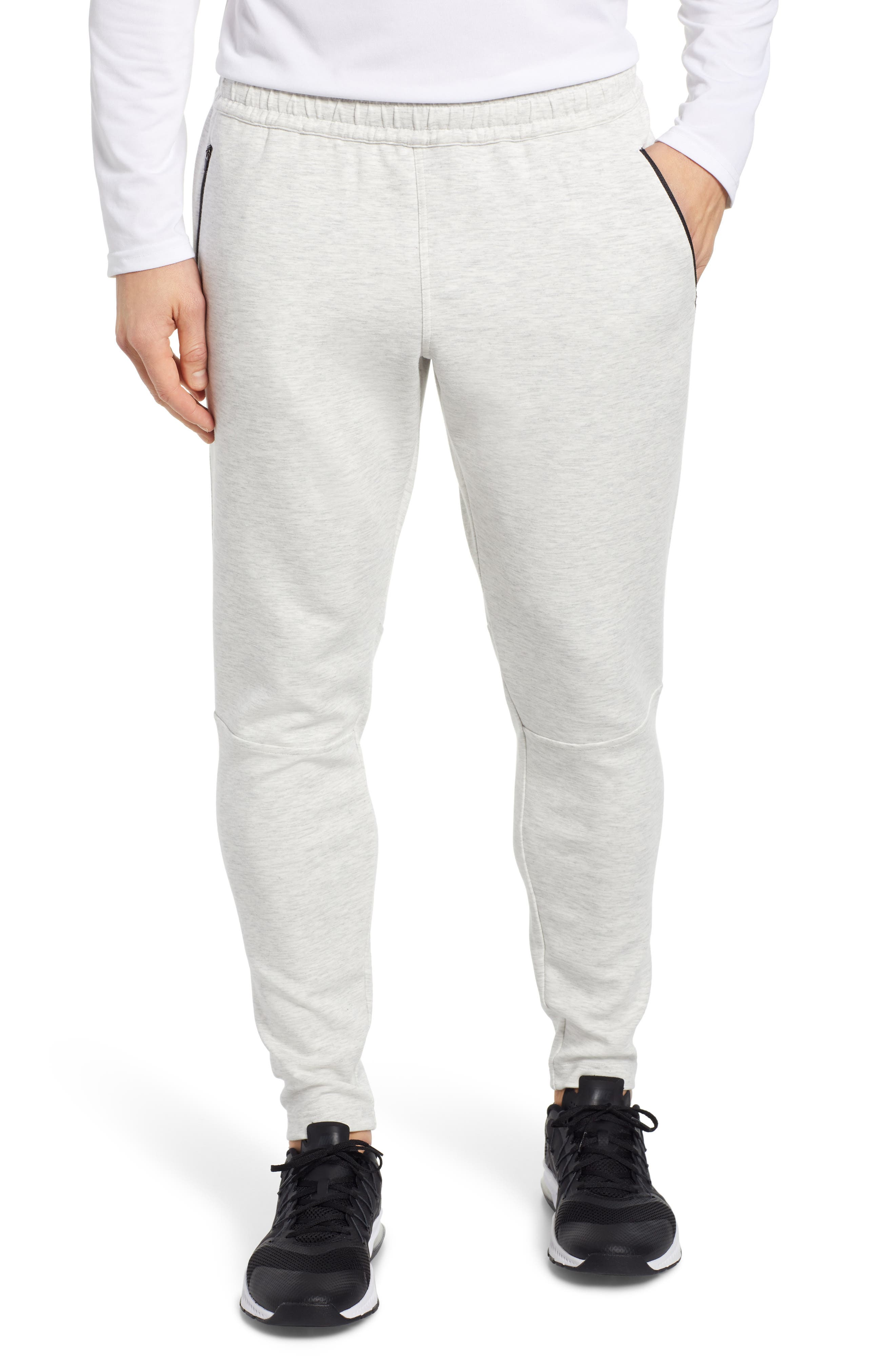 ZELLA Zip Pocket Tech Jogger Pants, Main, color, WHITE OXIDE MELANGE