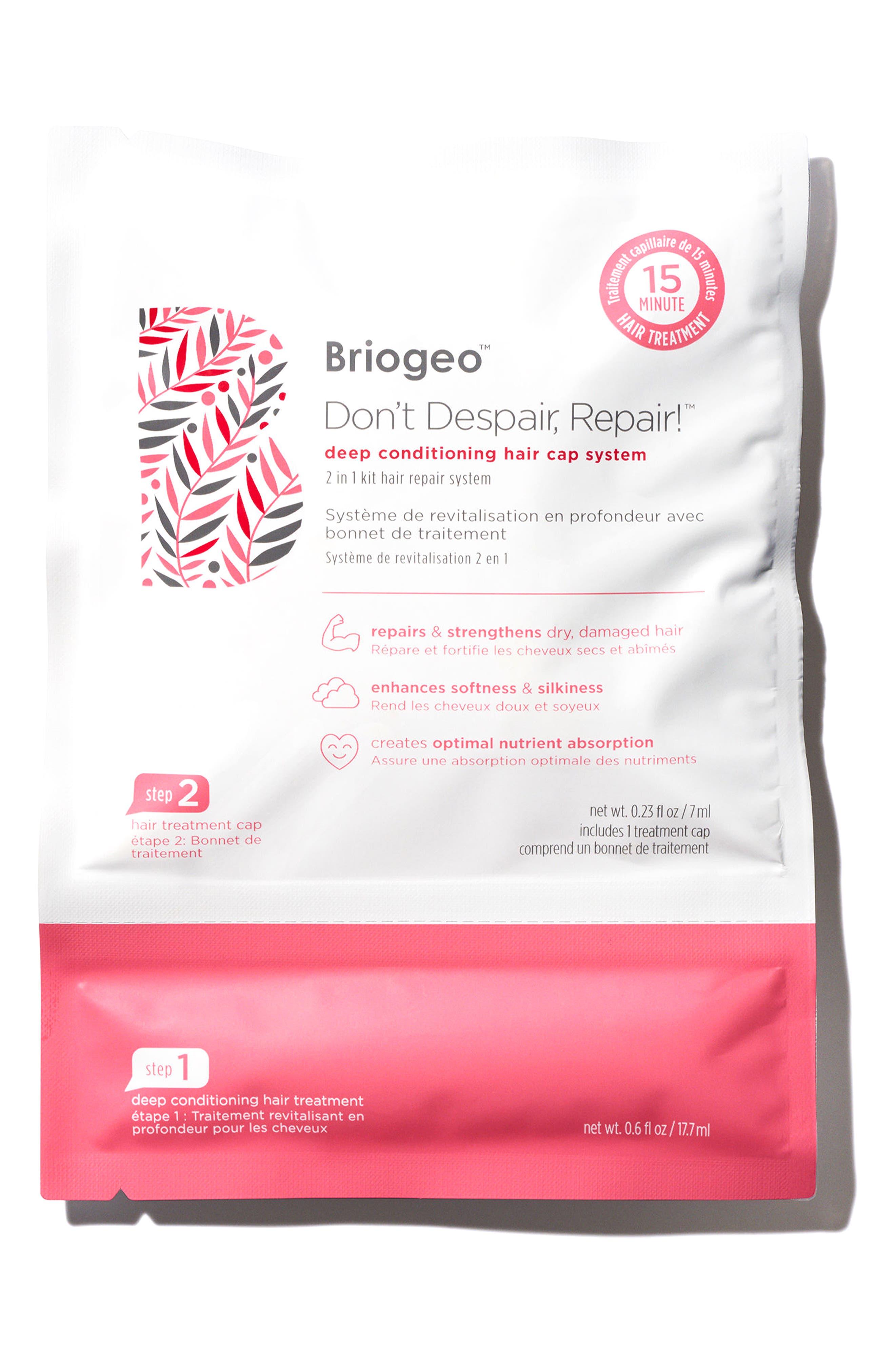 BRIOGEO, Don't Despair, Repair! Deep Conditioning Hair Cap System, Alternate thumbnail 3, color, NO COLOR