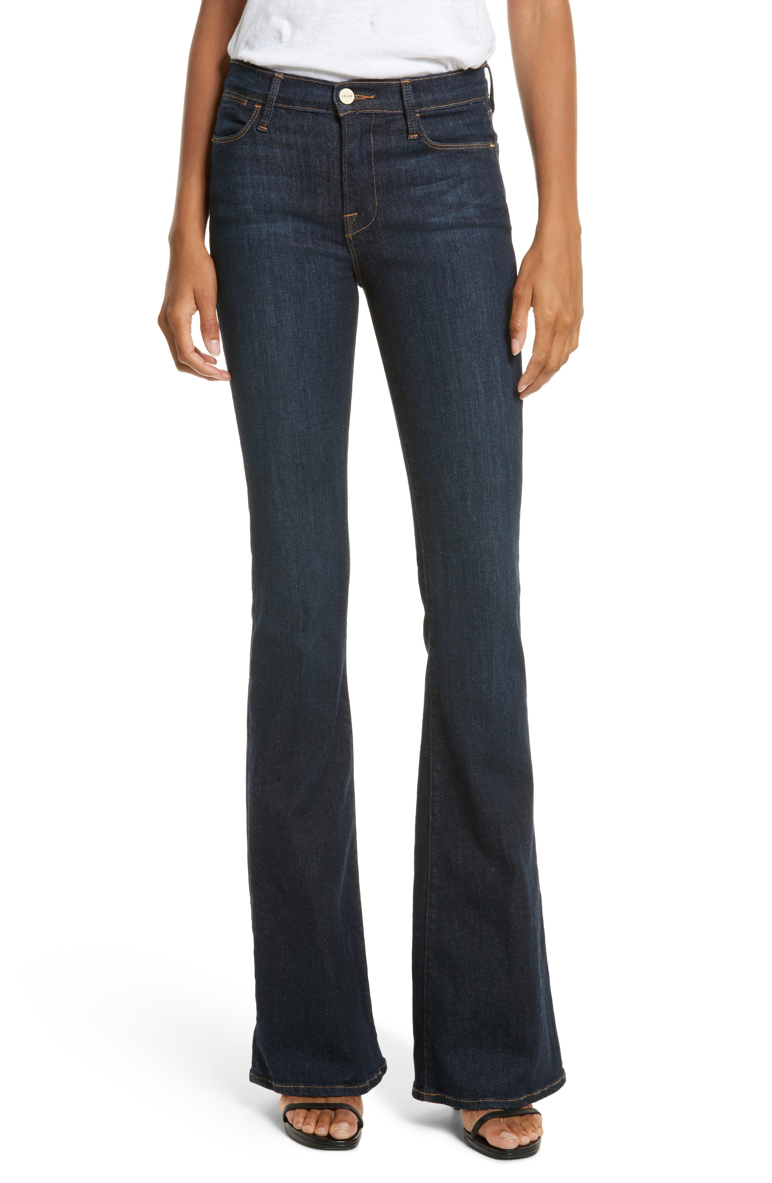 FRAME, 'Le High Flare' Jeans, Main thumbnail 1, color, SUTHERLAND