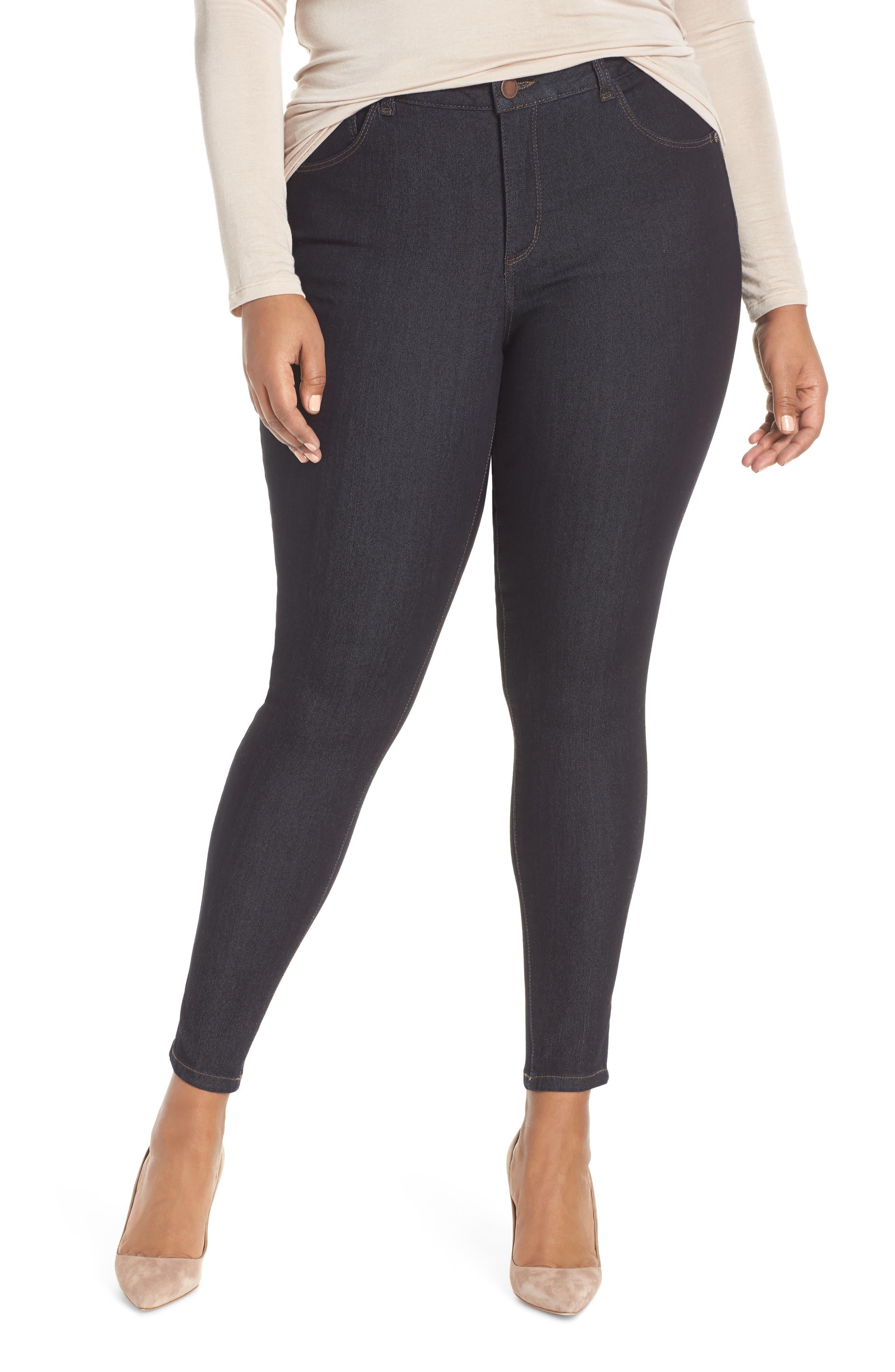WIT & WISDOM, 30/11 Ab-solution High Waist Skinny Jeans, Main thumbnail 1, color, INDIGO