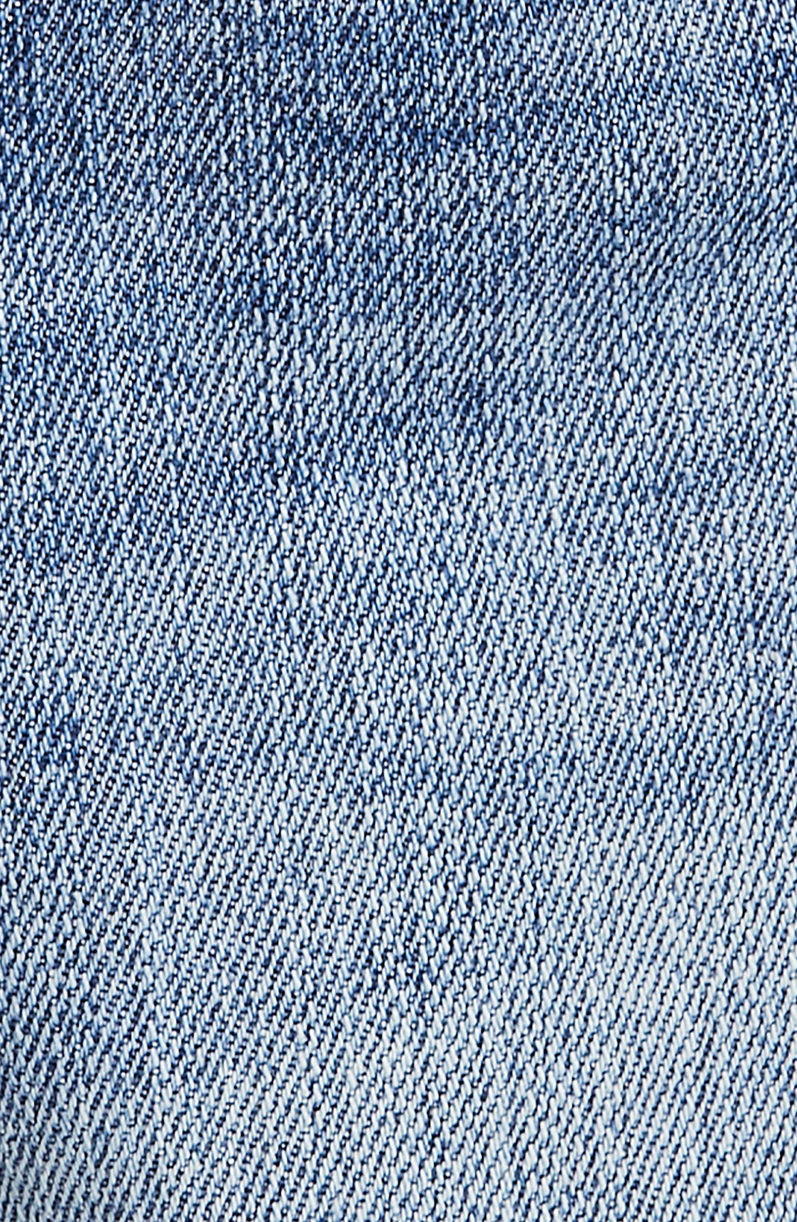 FREE PEOPLE, Sofia Cutoff Denim Shorts, Alternate thumbnail 6, color, DENIM BLUE
