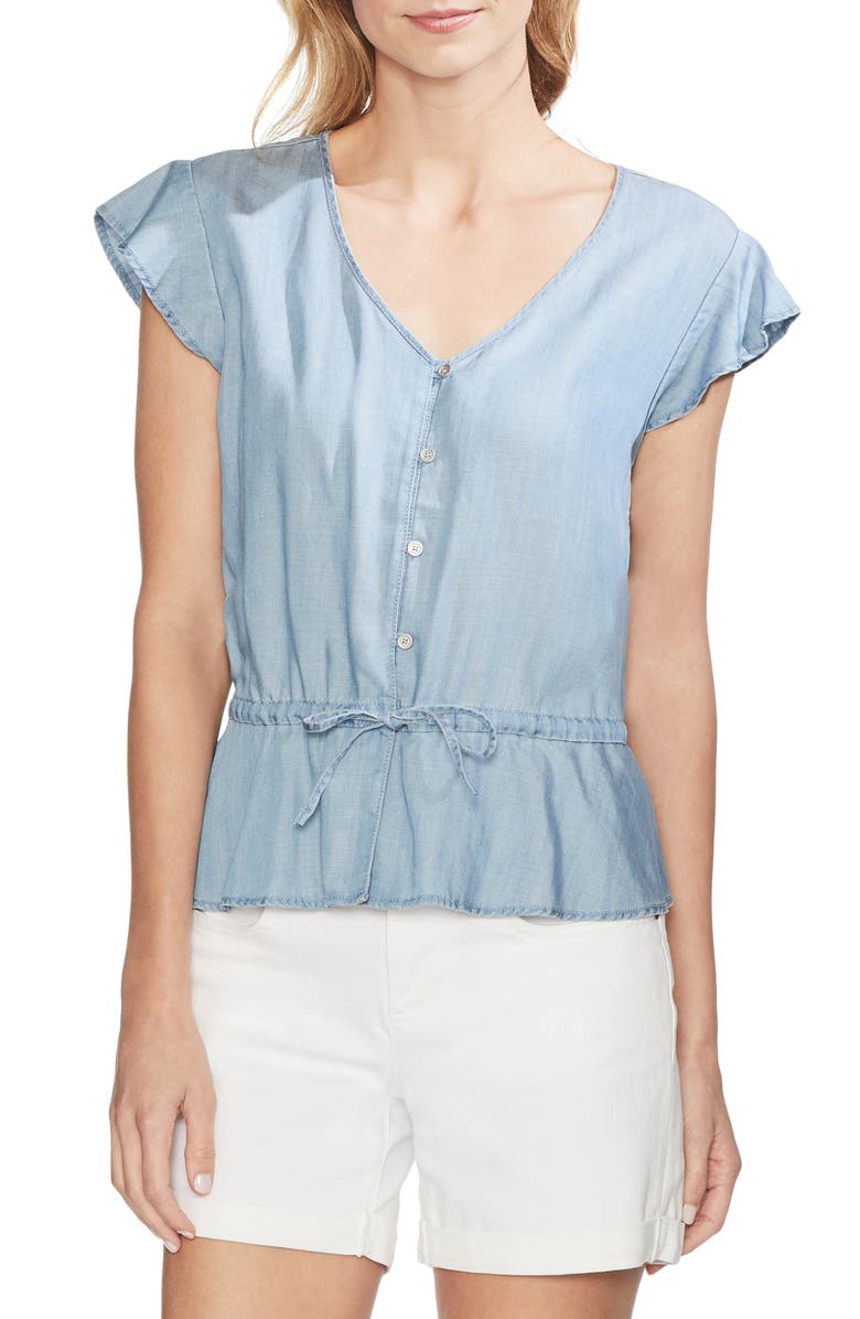 Vince Camuto Tops DRAWSTRING PEPLUM TOP