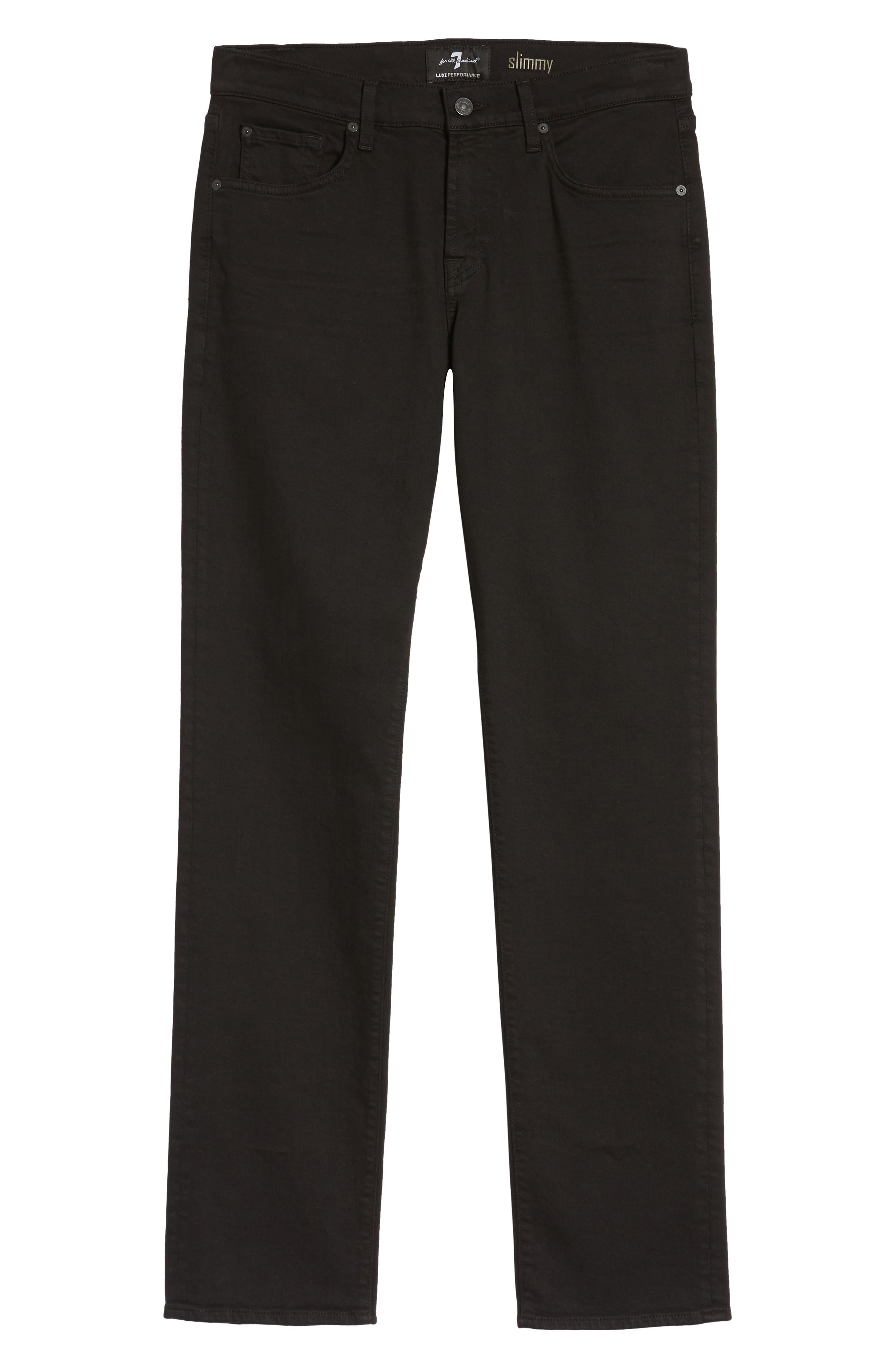 7 FOR ALL MANKIND<SUP>®</SUP>, Luxe Performance - Slimmy Slim Fit Jeans, Alternate thumbnail 6, color, ANNEX BLACK