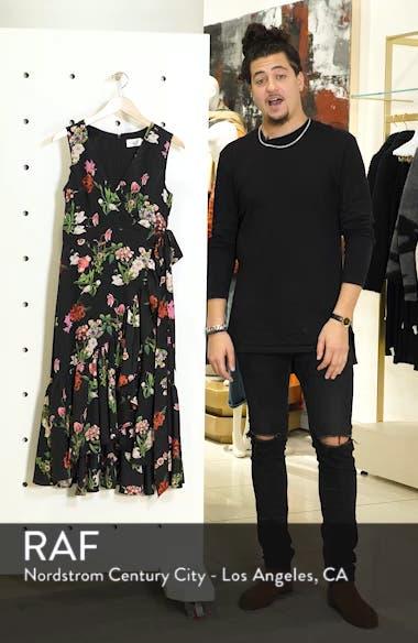 Ruffle Hem Faux Wrap Dress, sales video thumbnail