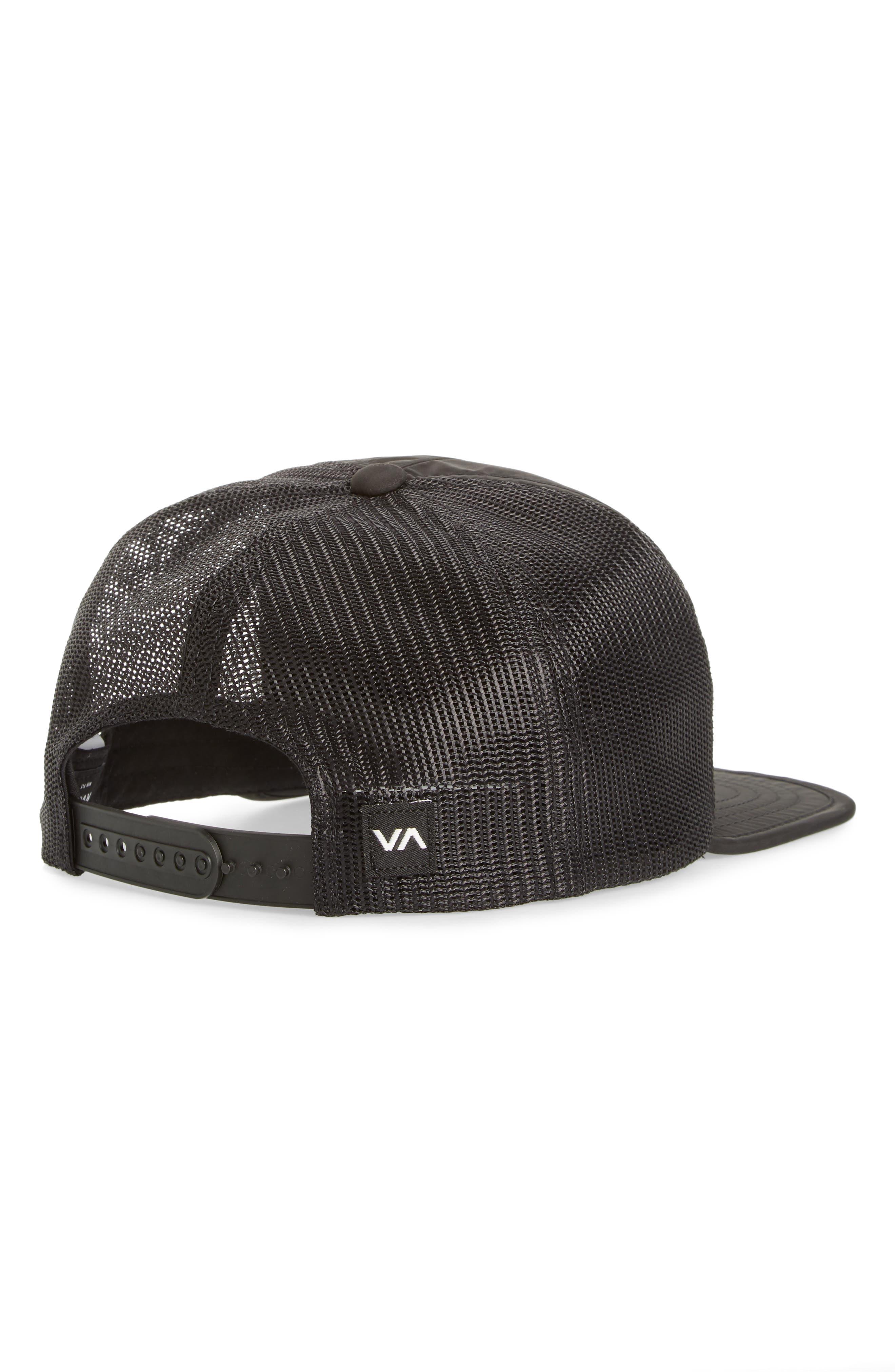RVCA, Travel Trucker Hat, Alternate thumbnail 2, color, BLACK