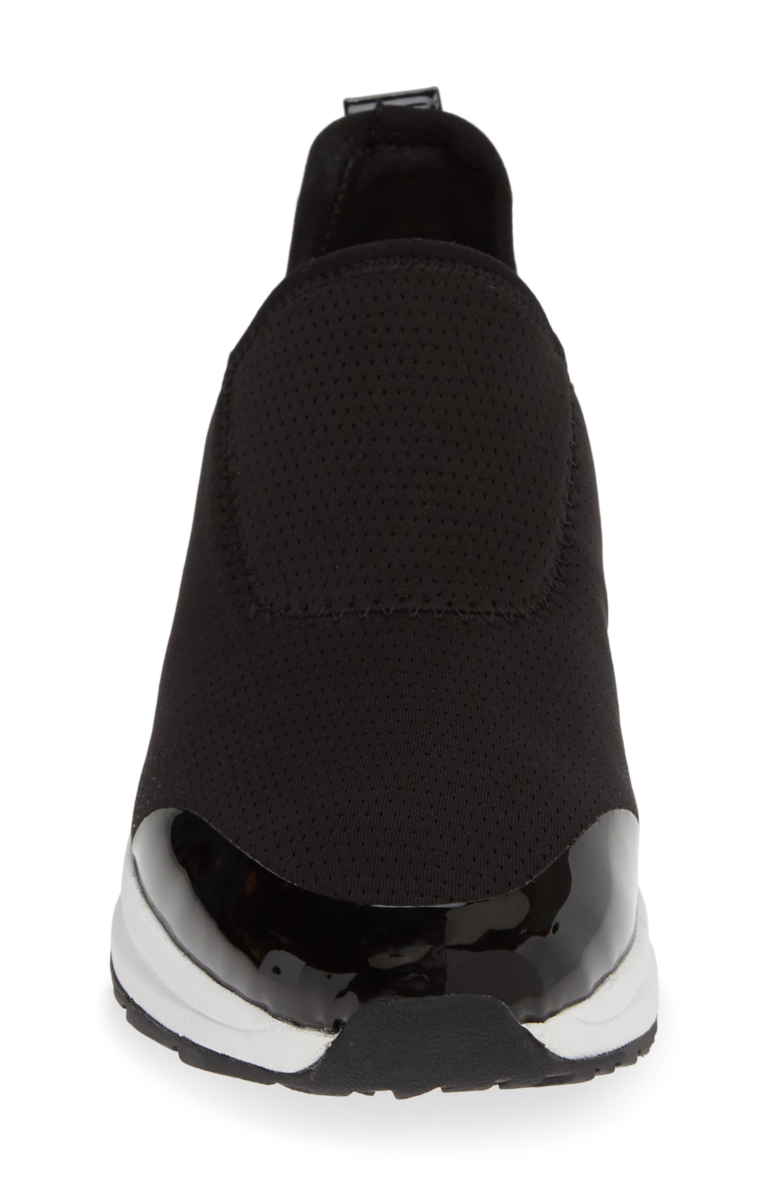 TARYN ROSE, Zabella Slip-On Sneaker, Alternate thumbnail 4, color, BLACK STRETCH FABRIC