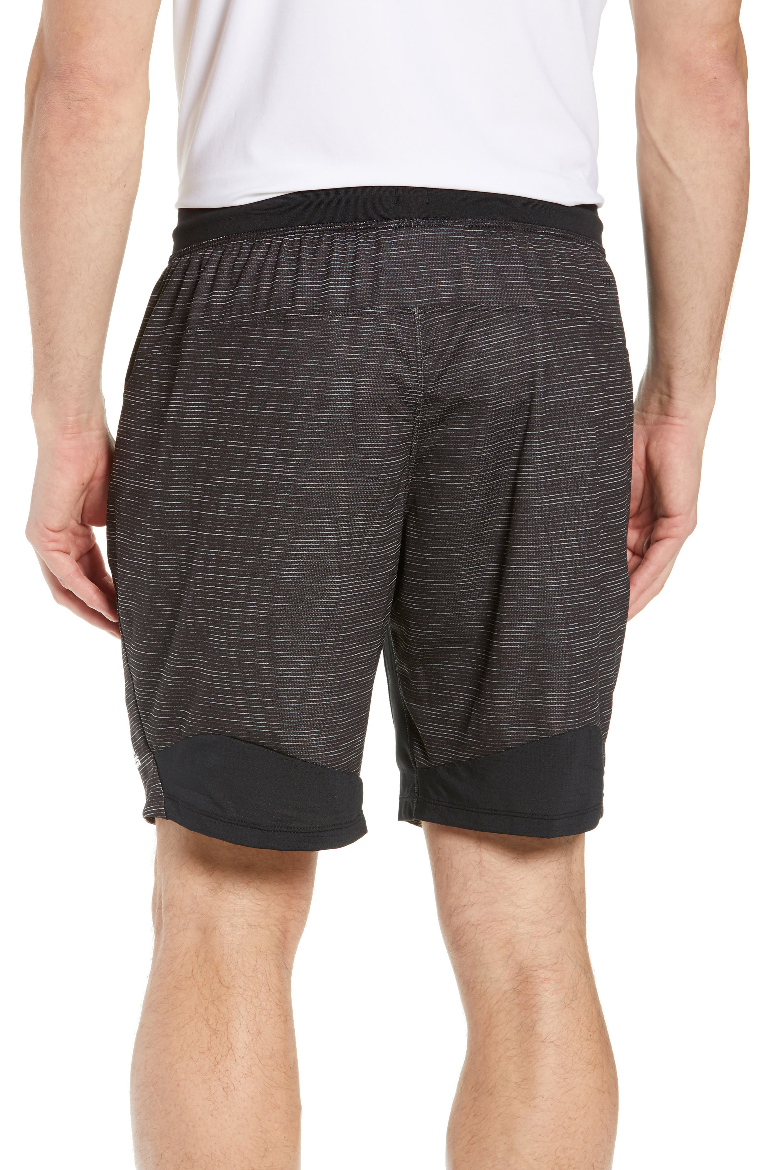 ADIDAS, Knit Shorts, Alternate thumbnail 2, color, BLACK