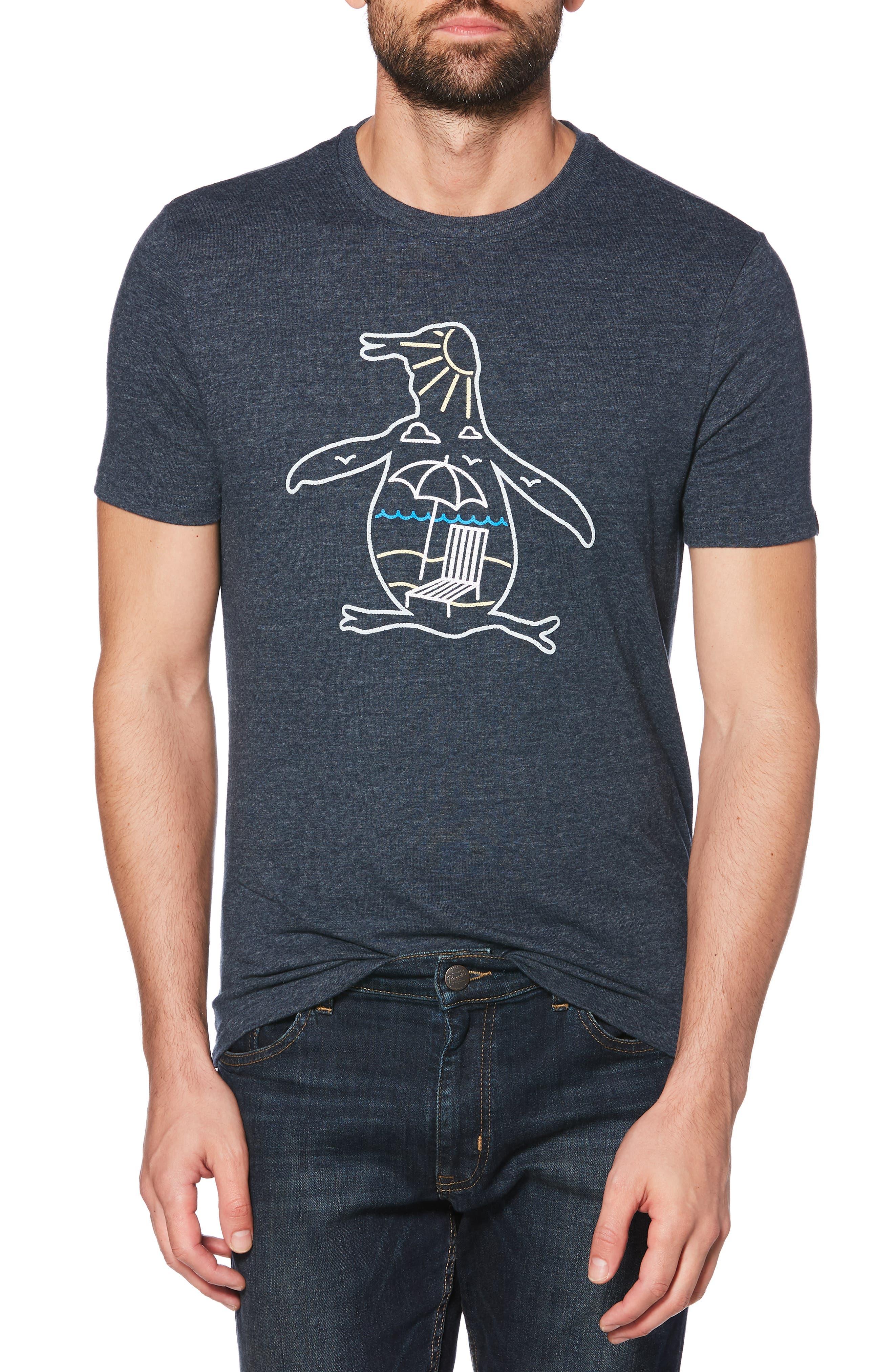 ORIGINAL PENGUIN Paradise Pete T-Shirt, Main, color, 413