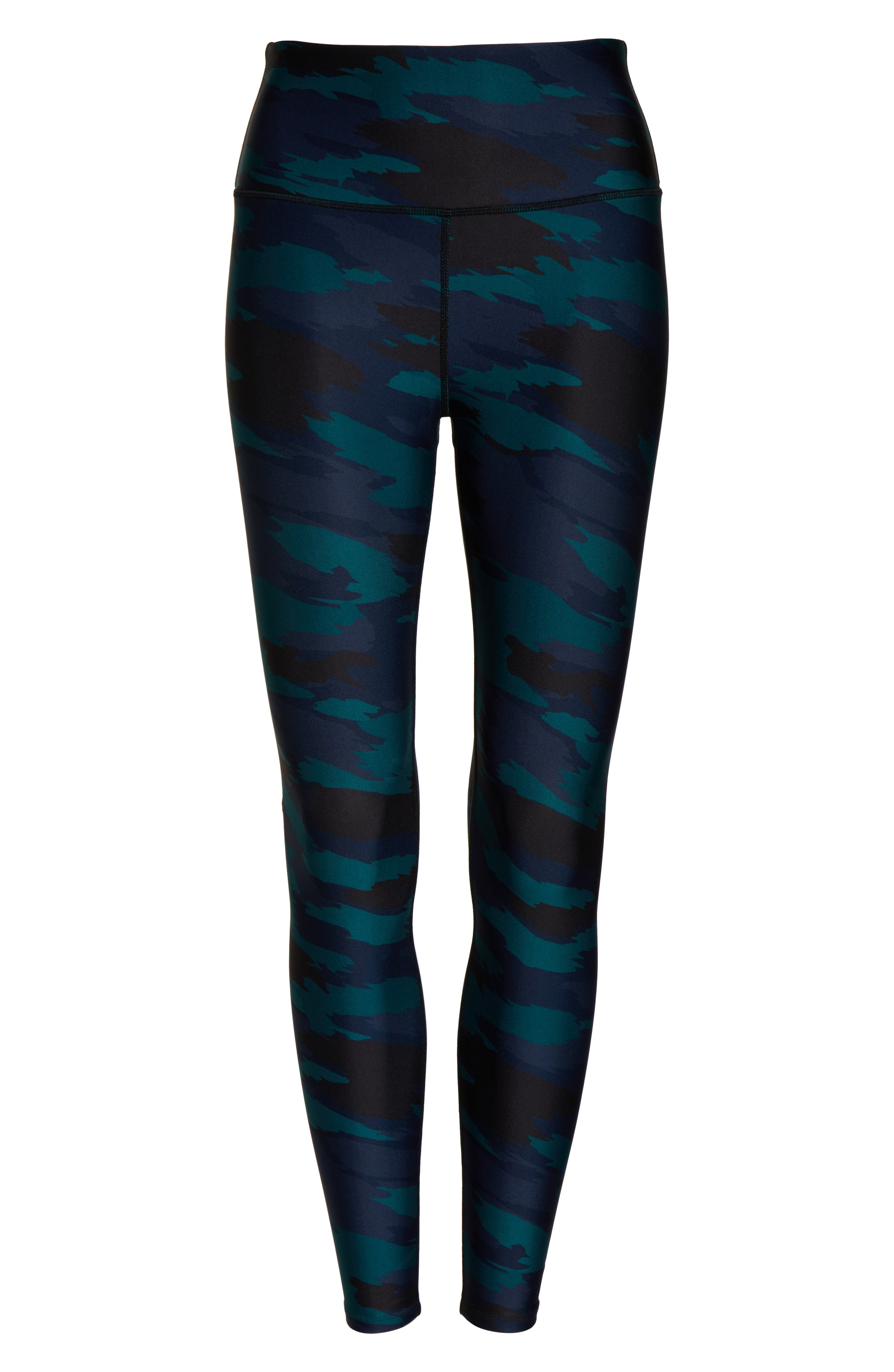 SOUL BY SOULCYCLE, High Waist Camo Tights, Alternate thumbnail 7, color, CAMO