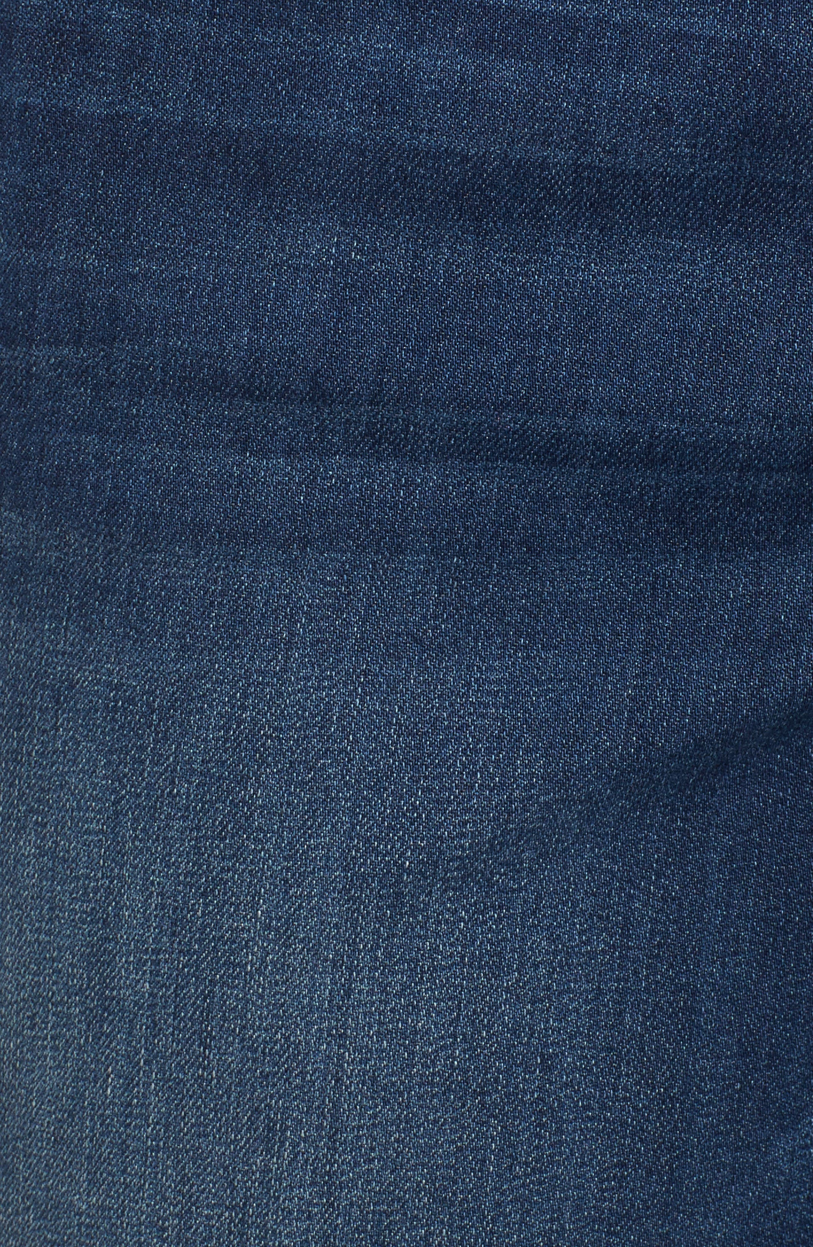 WIT & WISDOM, Ab-solution Cuffed Denim Shorts, Alternate thumbnail 6, color, BLUE