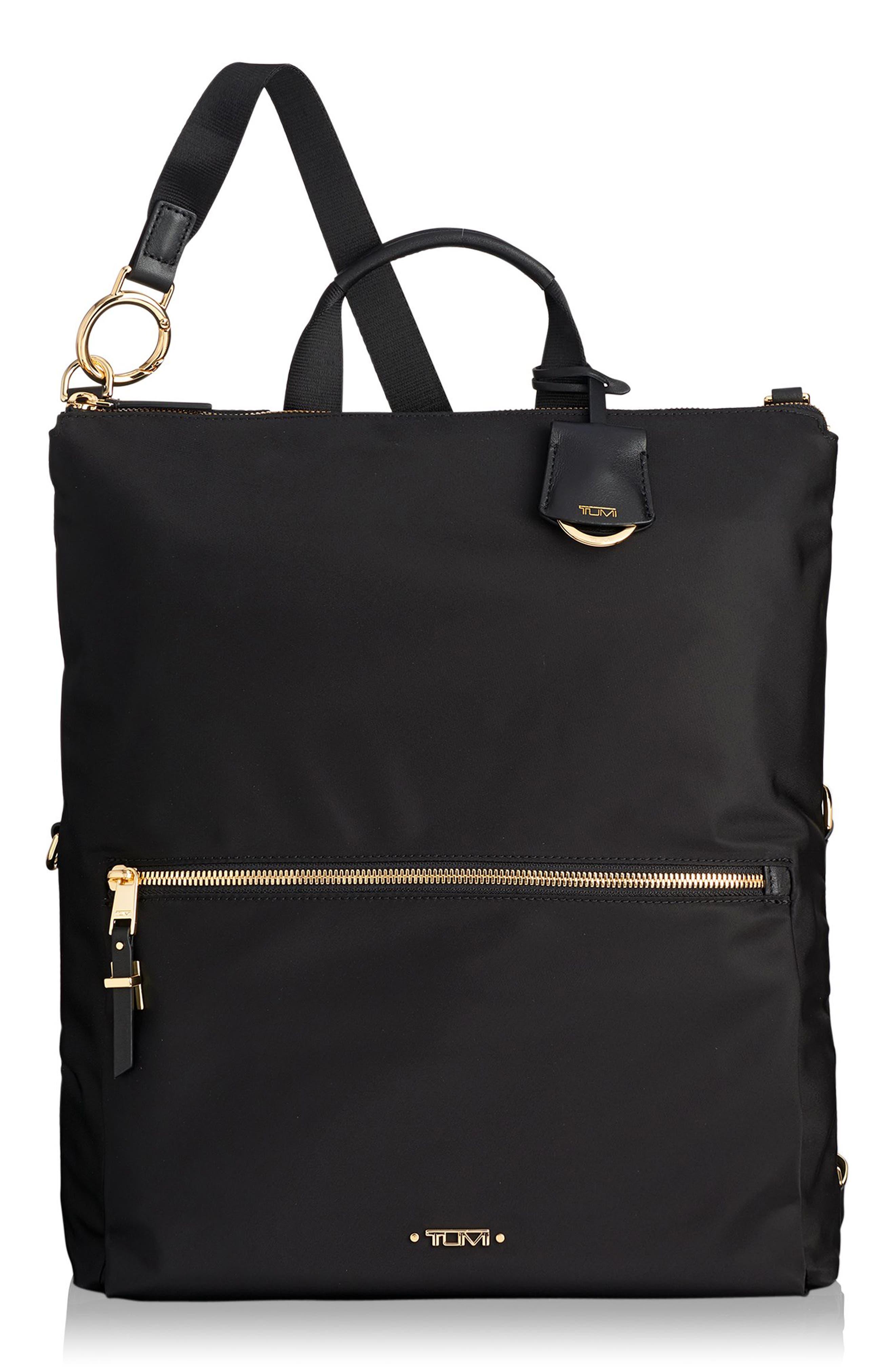 TUMI, Voyageur Jena Nylon Convertible Backpack, Main thumbnail 1, color, BLACK