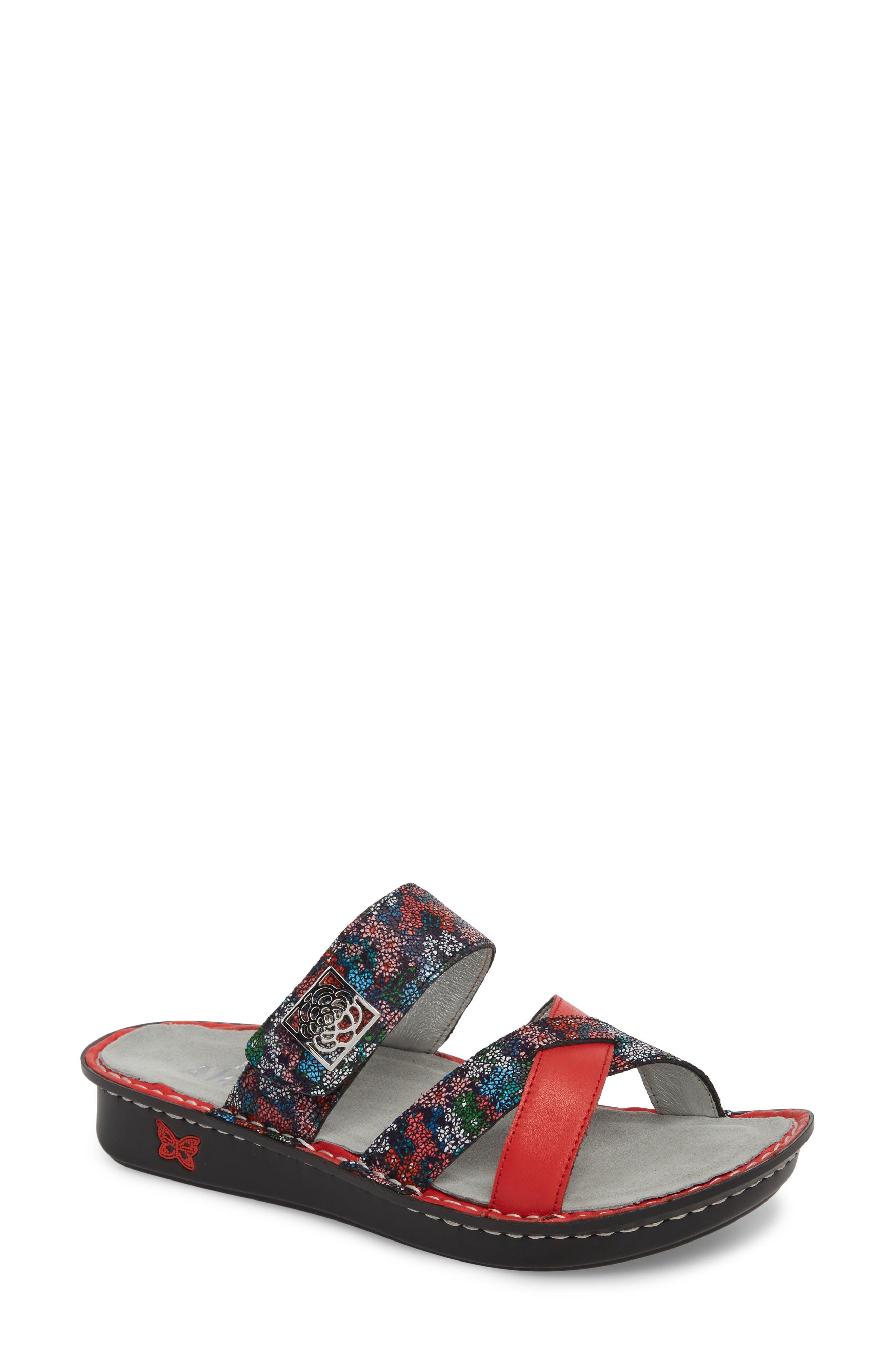 ALEGRIA by PG Lite Victoriah Slide Sandal, Main, color, BOTANICOOL LEATHER