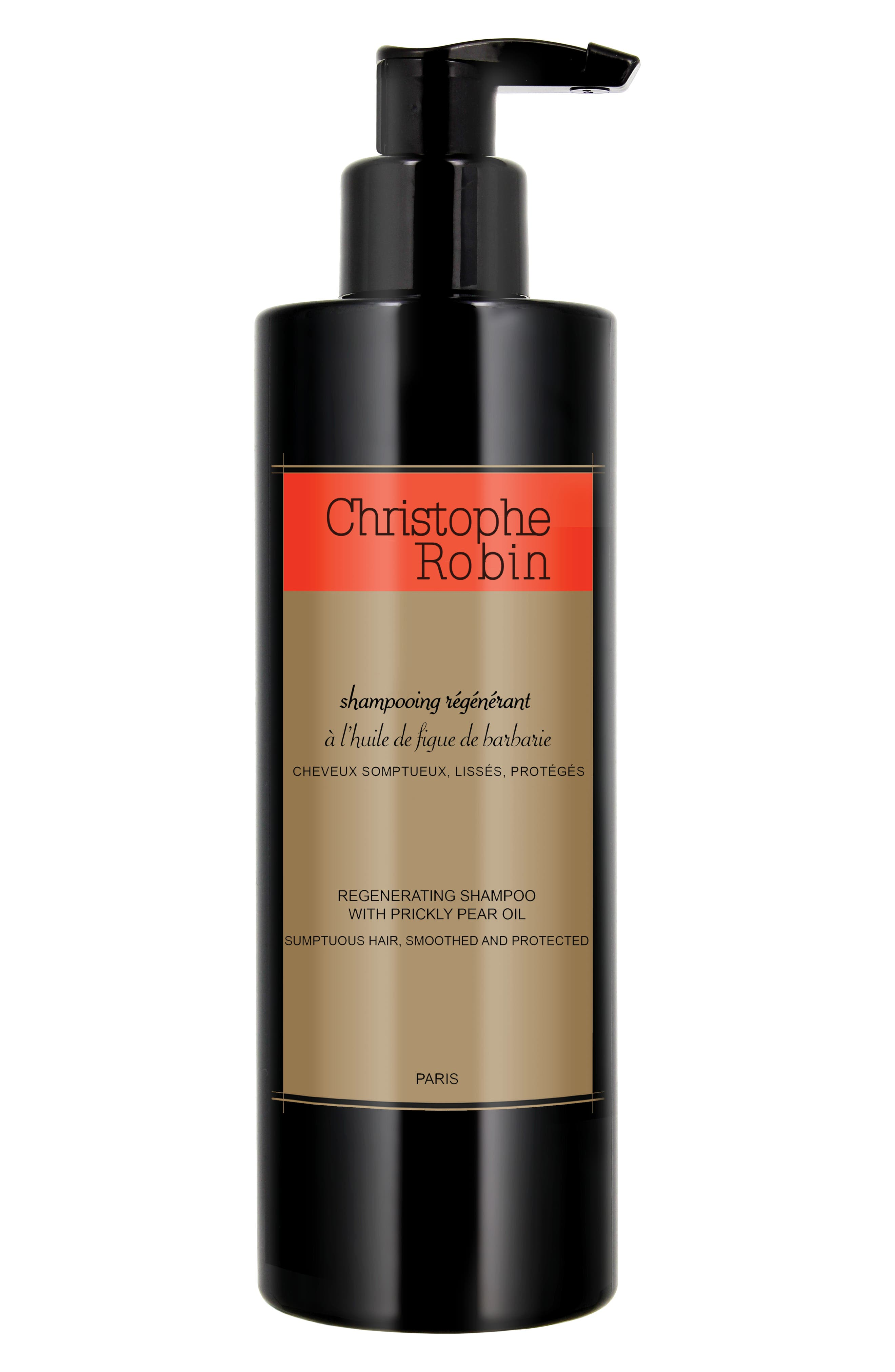 CHRISTOPHE ROBIN, SPACE.NK.apothecary Christophe Robin Regenerating Shampoo with Prickly Pear Oil, Main thumbnail 1, color, 000