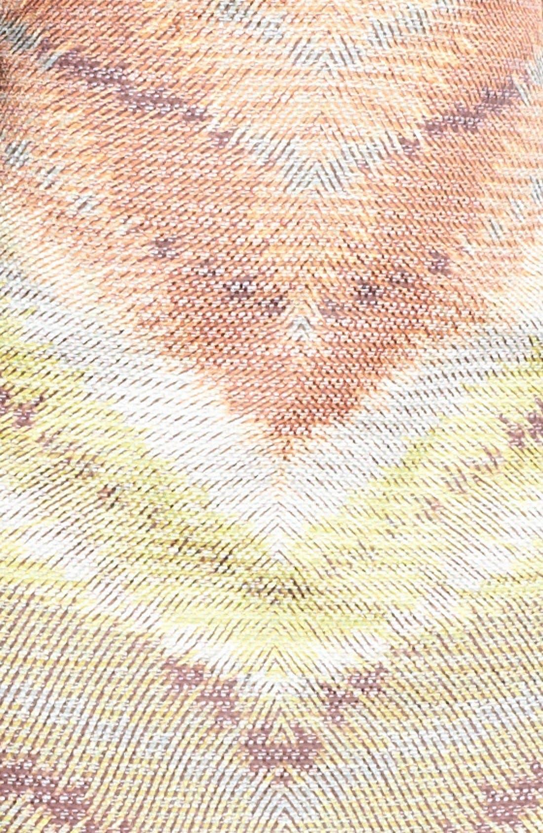 TRACY REESE, Zigzag Raffia Shift Dress, Alternate thumbnail 4, color, 798