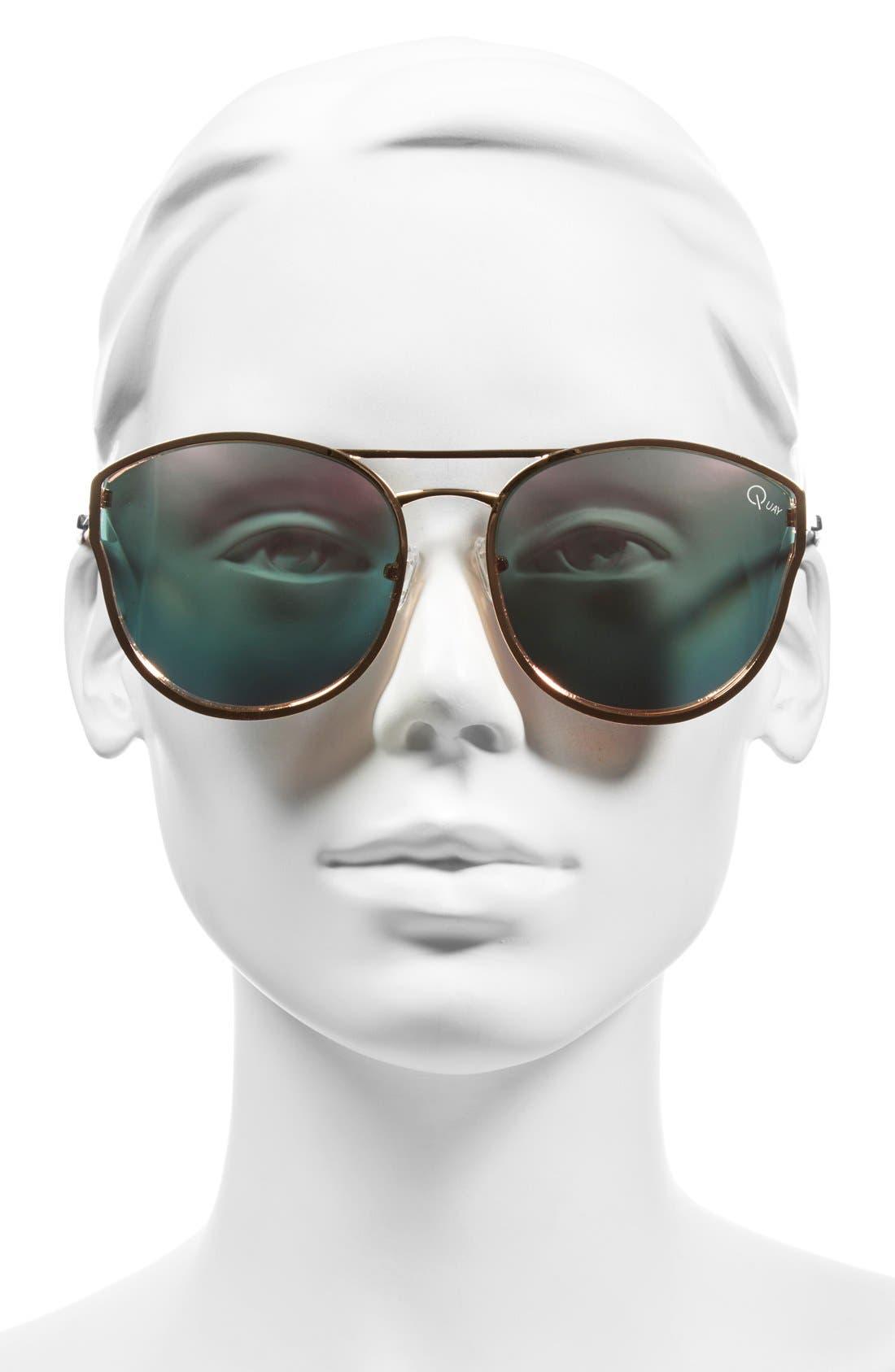 QUAY AUSTRALIA, Cherry Bomb 60mm Sunglasses, Alternate thumbnail 3, color, 690