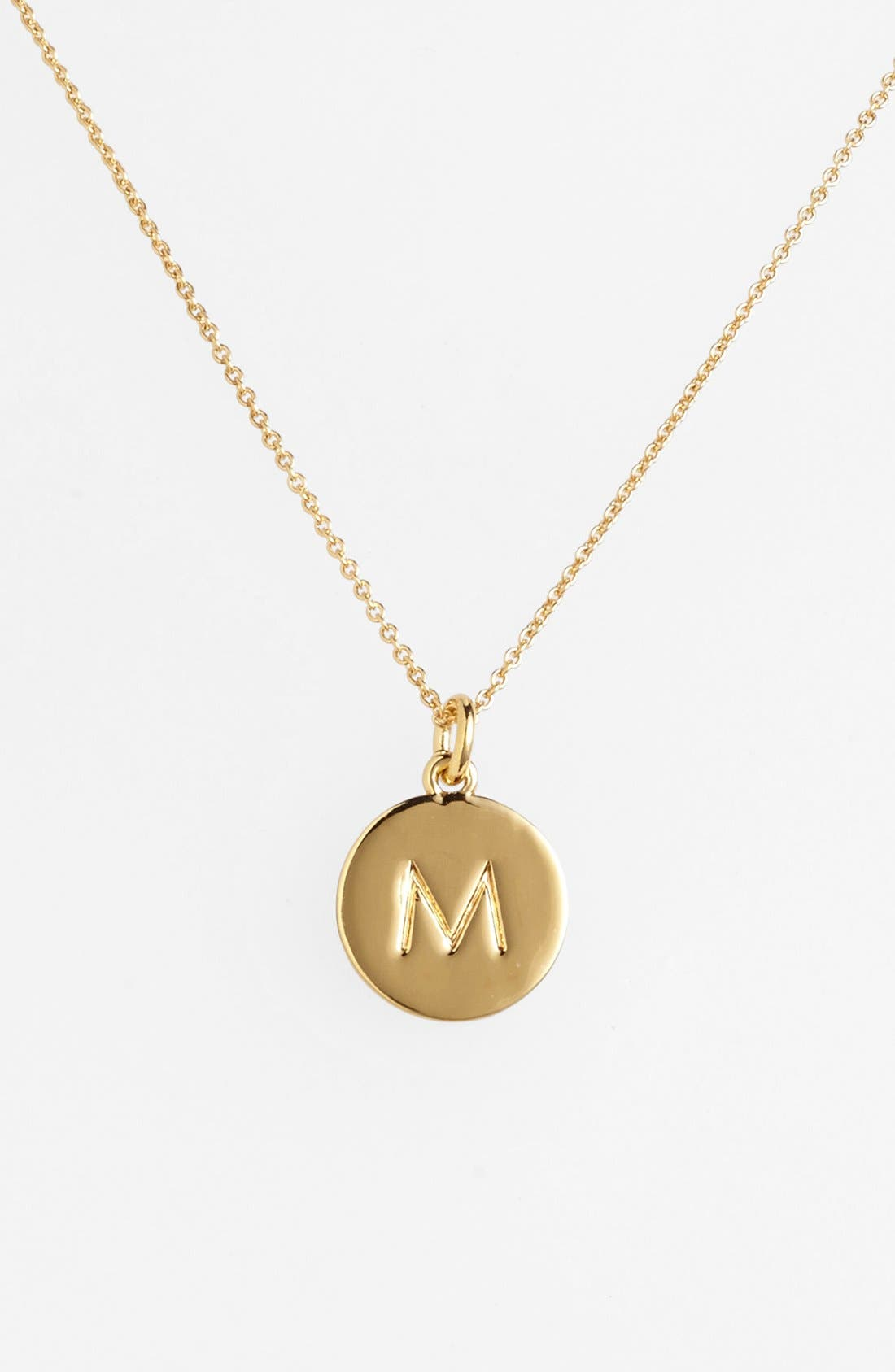 KATE SPADE NEW YORK one in a million initial pendant necklace, Main, color, M- GOLD