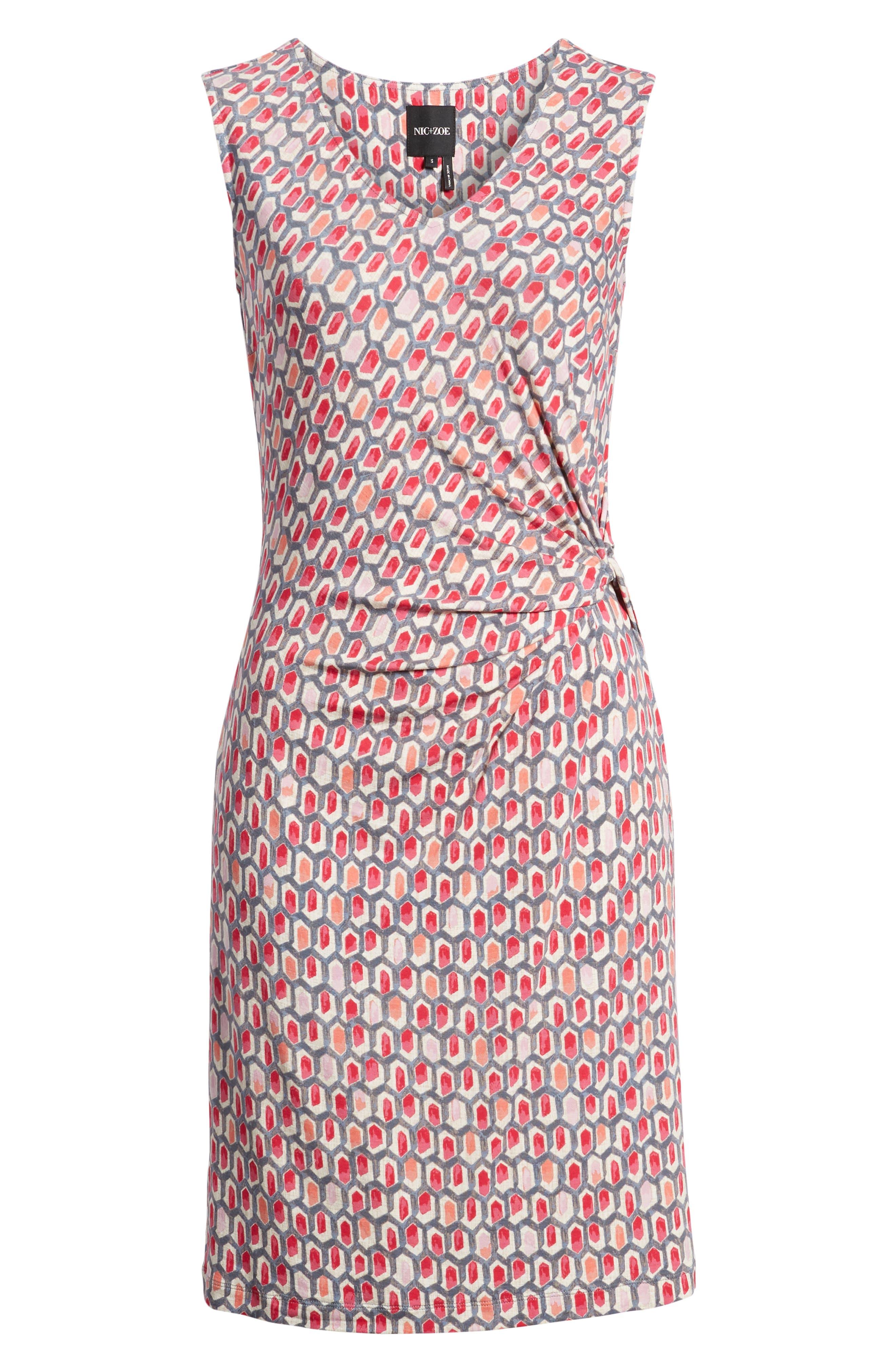 NIC+ZOE, Bright Stone Sheath Dress, Alternate thumbnail 8, color, MULTI