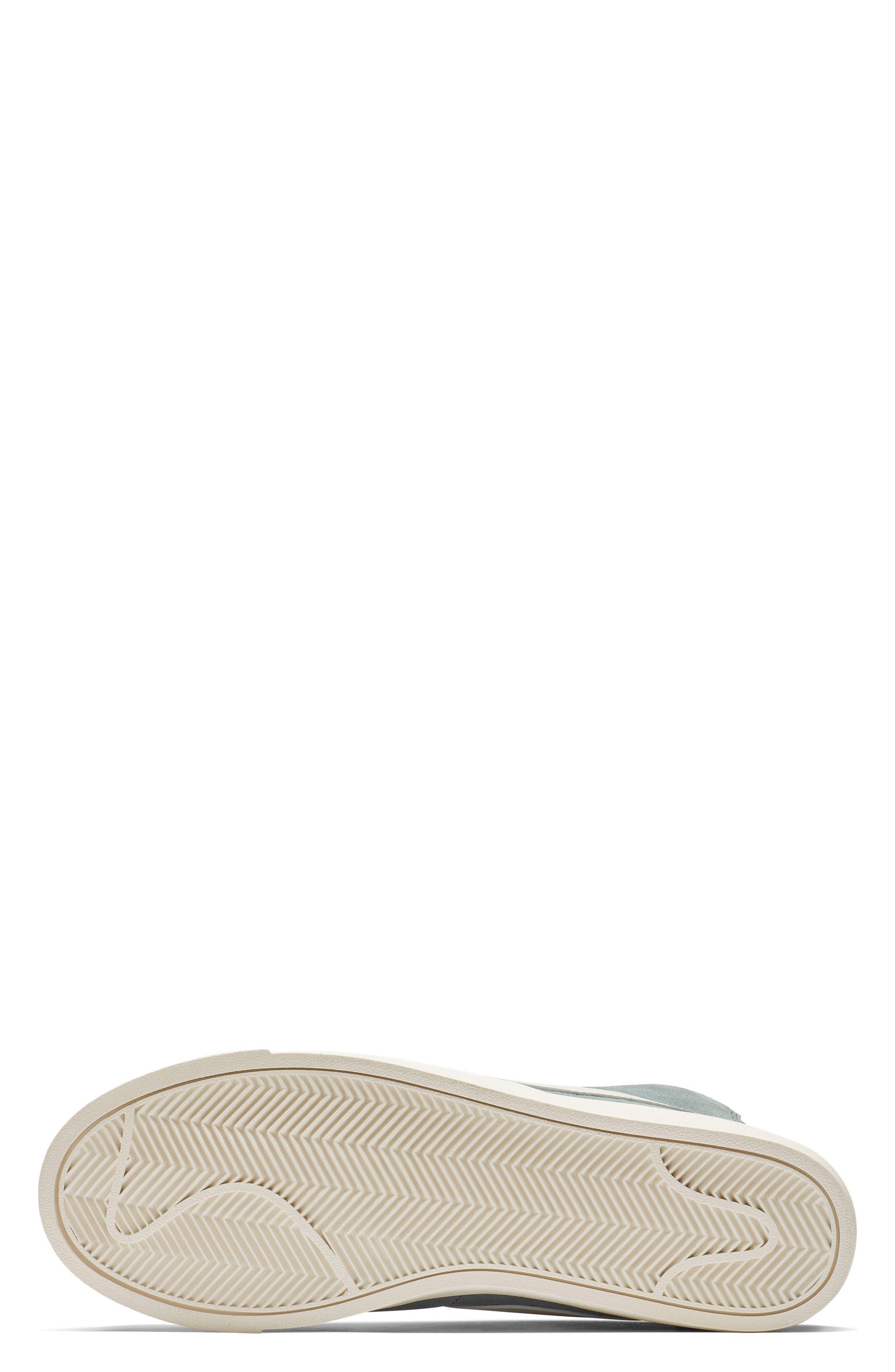 NIKE, Blazer Mid Vintage Sneaker, Alternate thumbnail 5, color, AVIATOR GREY/ SAIL/ BLUE