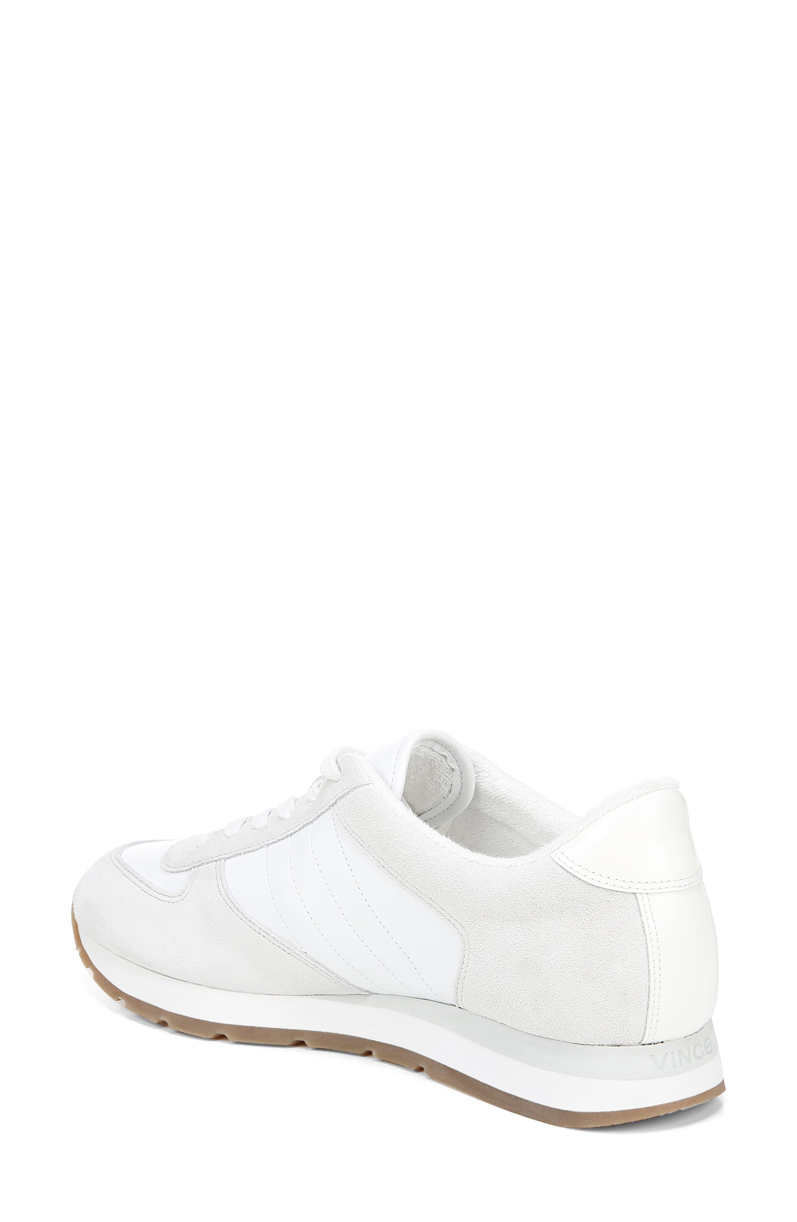 VINCE, Pasha Sneaker, Alternate thumbnail 2, color, WHITE