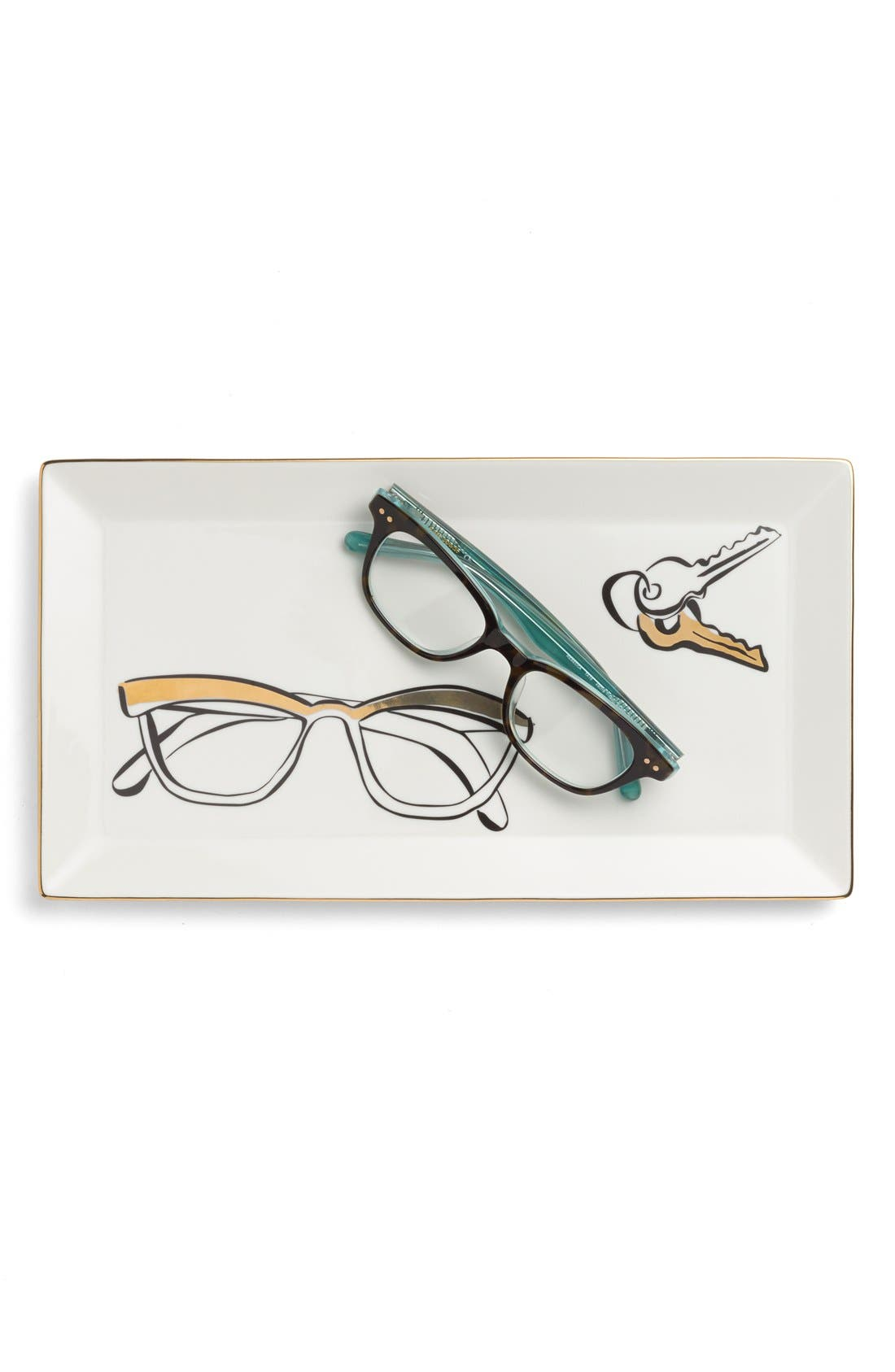 KATE SPADE NEW YORK, 'eyeglasses' trinket tray, Alternate thumbnail 2, color, 100