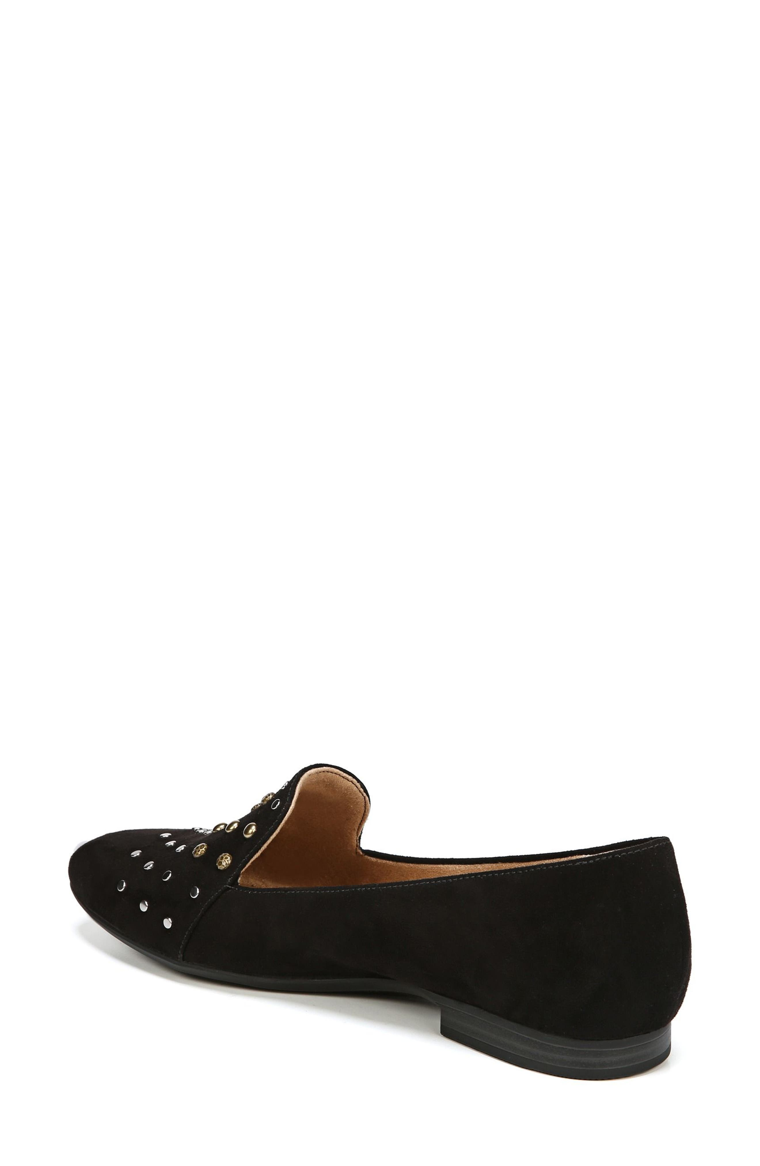 NATURALIZER, Emiline 4 Loafer, Alternate thumbnail 2, color, BLACK FABRIC
