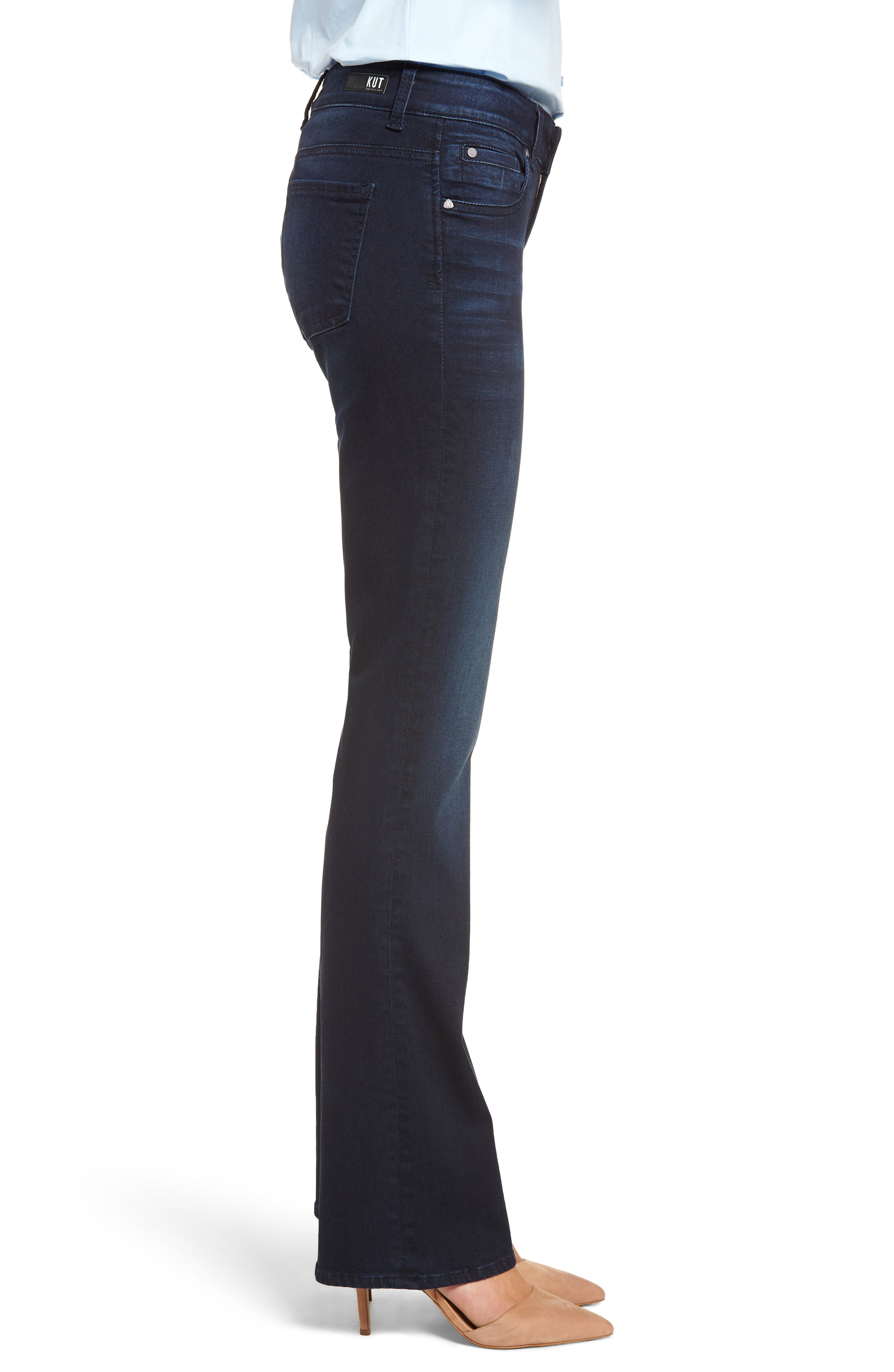 KUT FROM THE KLOTH, Natalie Stretch Bootleg Jeans, Alternate thumbnail 3, color, LIBERATING