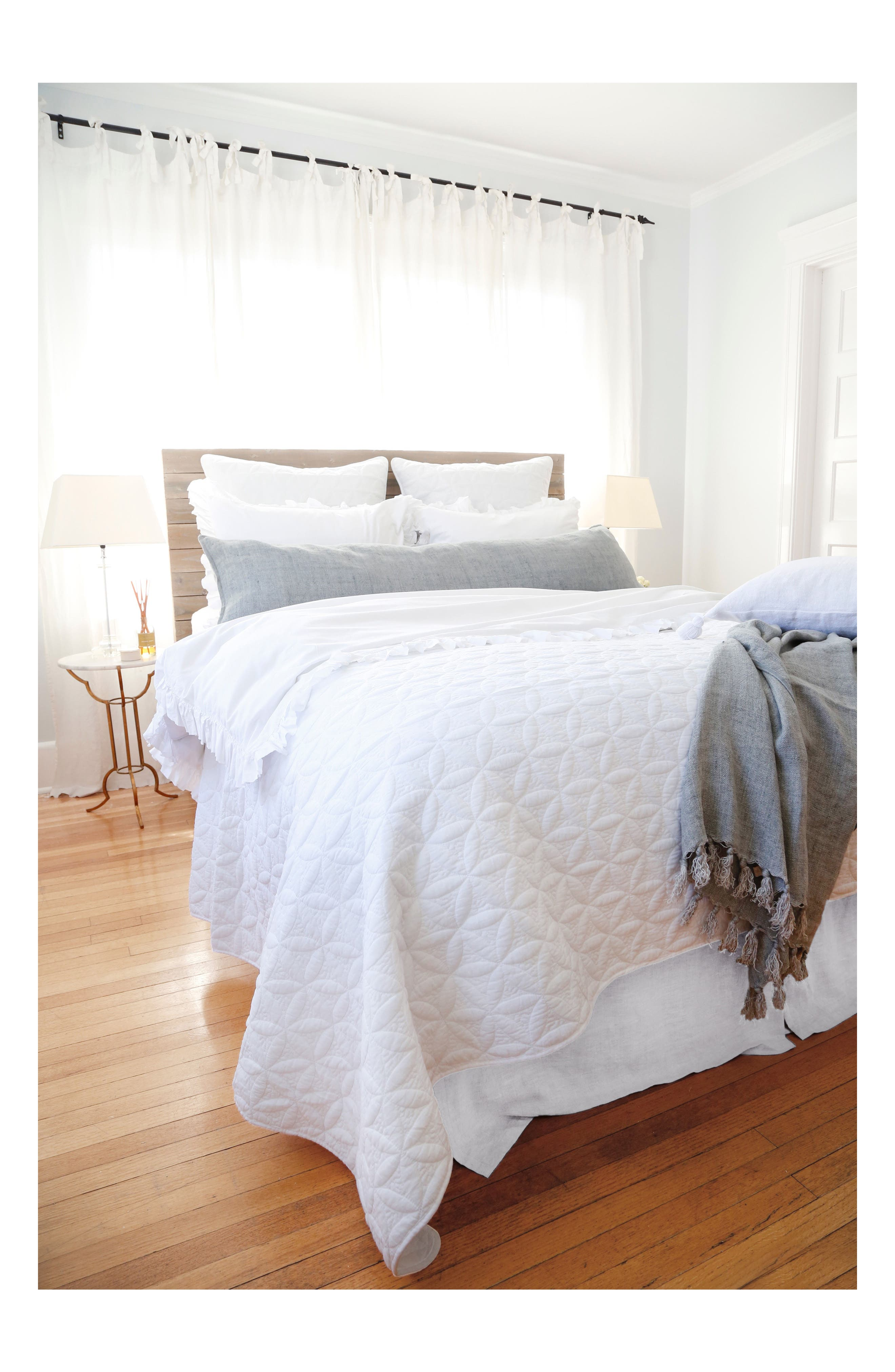POM POM AT HOME, Oslo Coverlet, Main thumbnail 1, color, WHITE