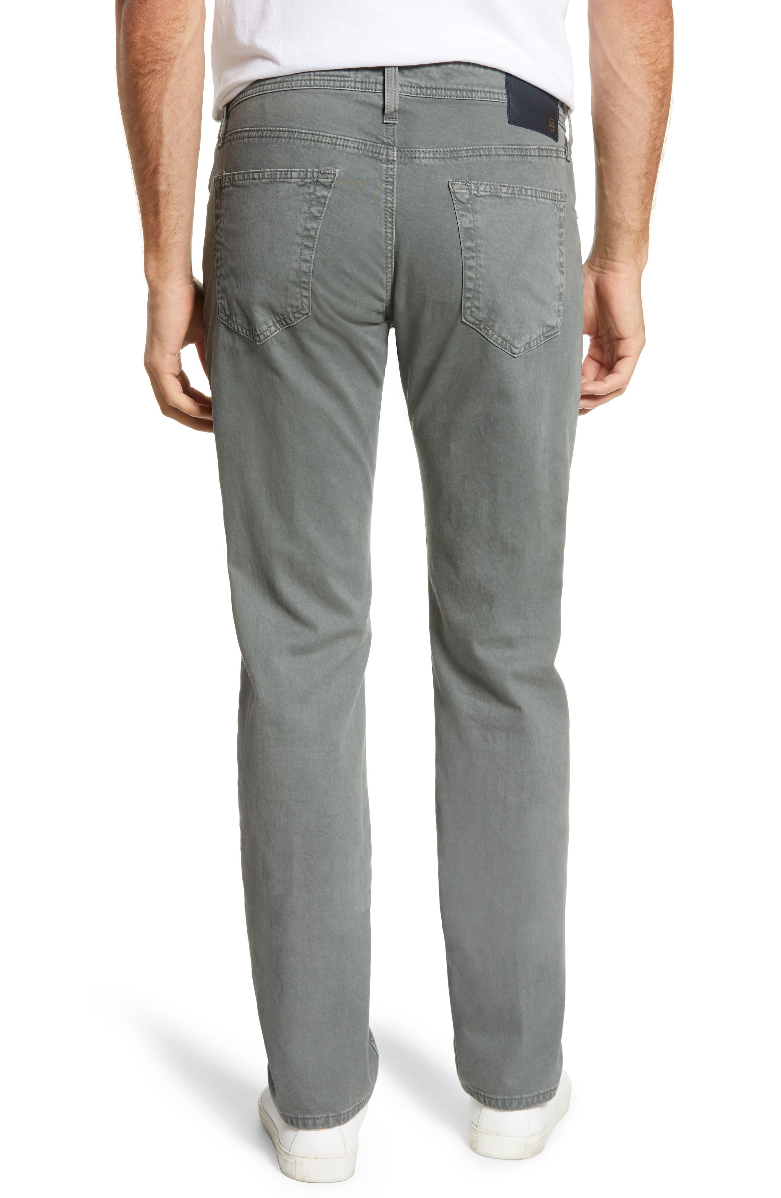 AG, Tellis SUD Modern Slim Stretch Twill Pants, Alternate thumbnail 2, color, SULFUR FOG BEACON