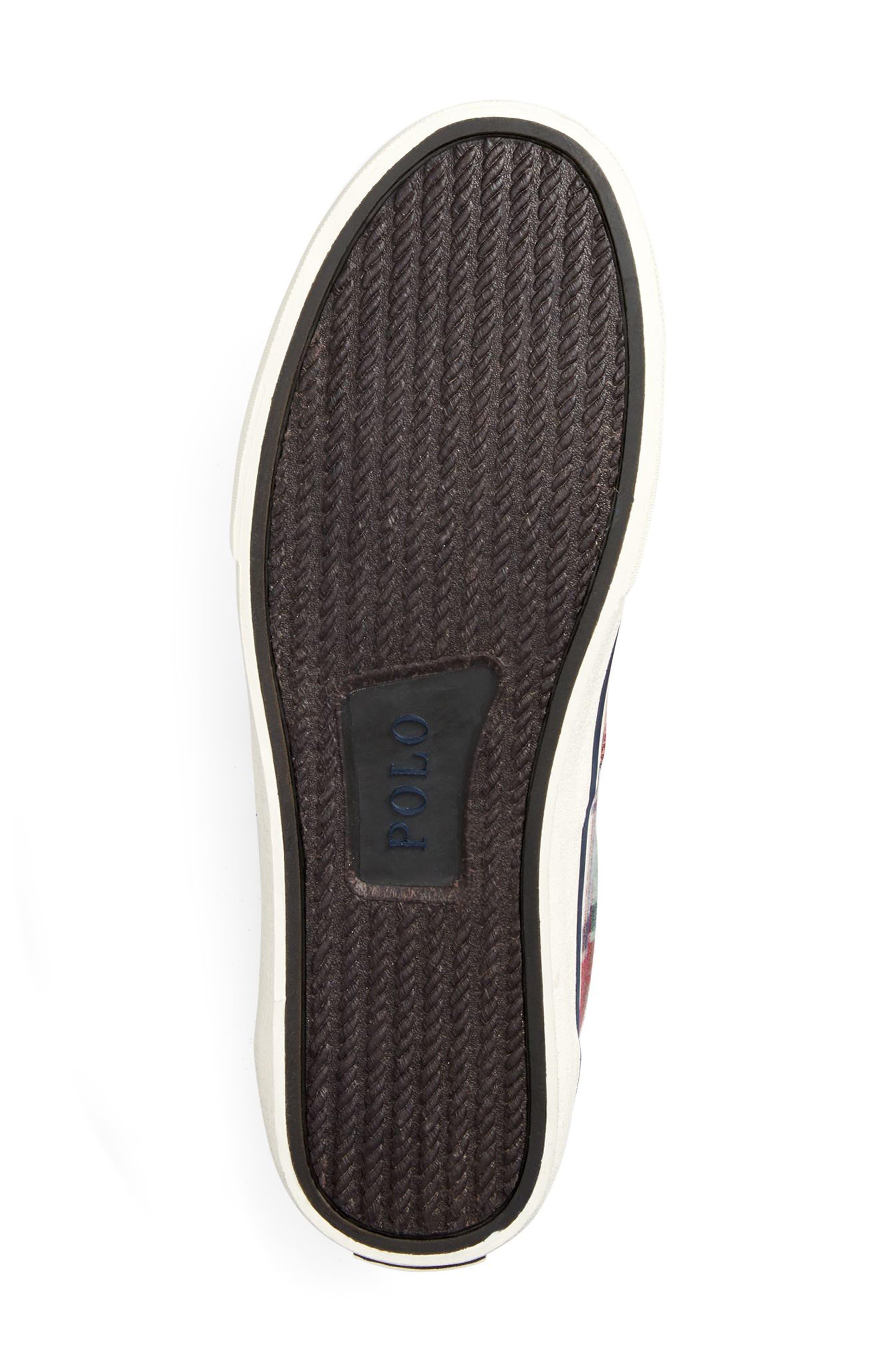 POLO RALPH LAUREN, Thorton III Sneaker, Alternate thumbnail 4, color, MULTI COLOR FABRIC