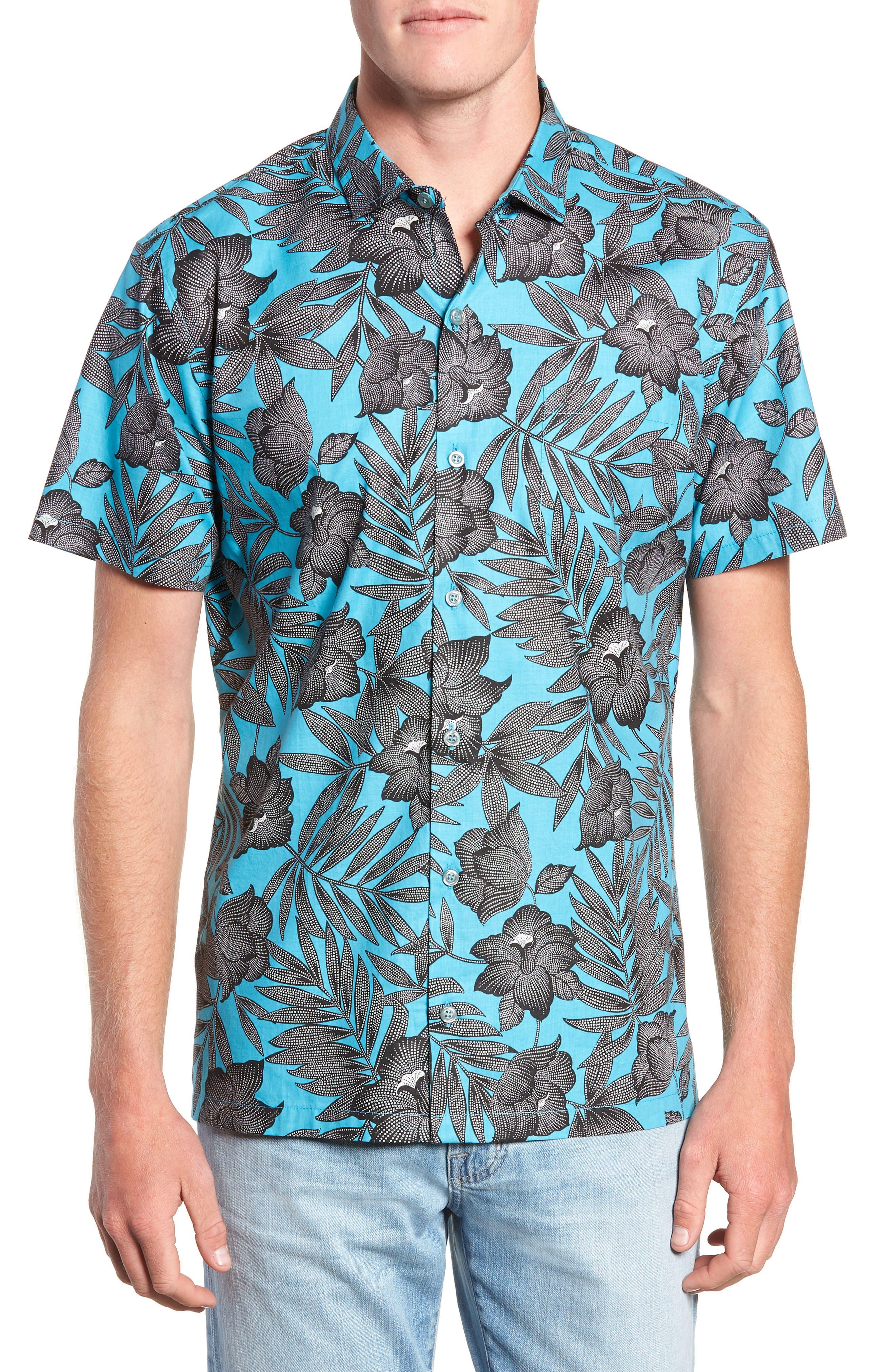 TORI RICHARD Pollenesia Regular Fit Sport Shirt, Main, color, SURF