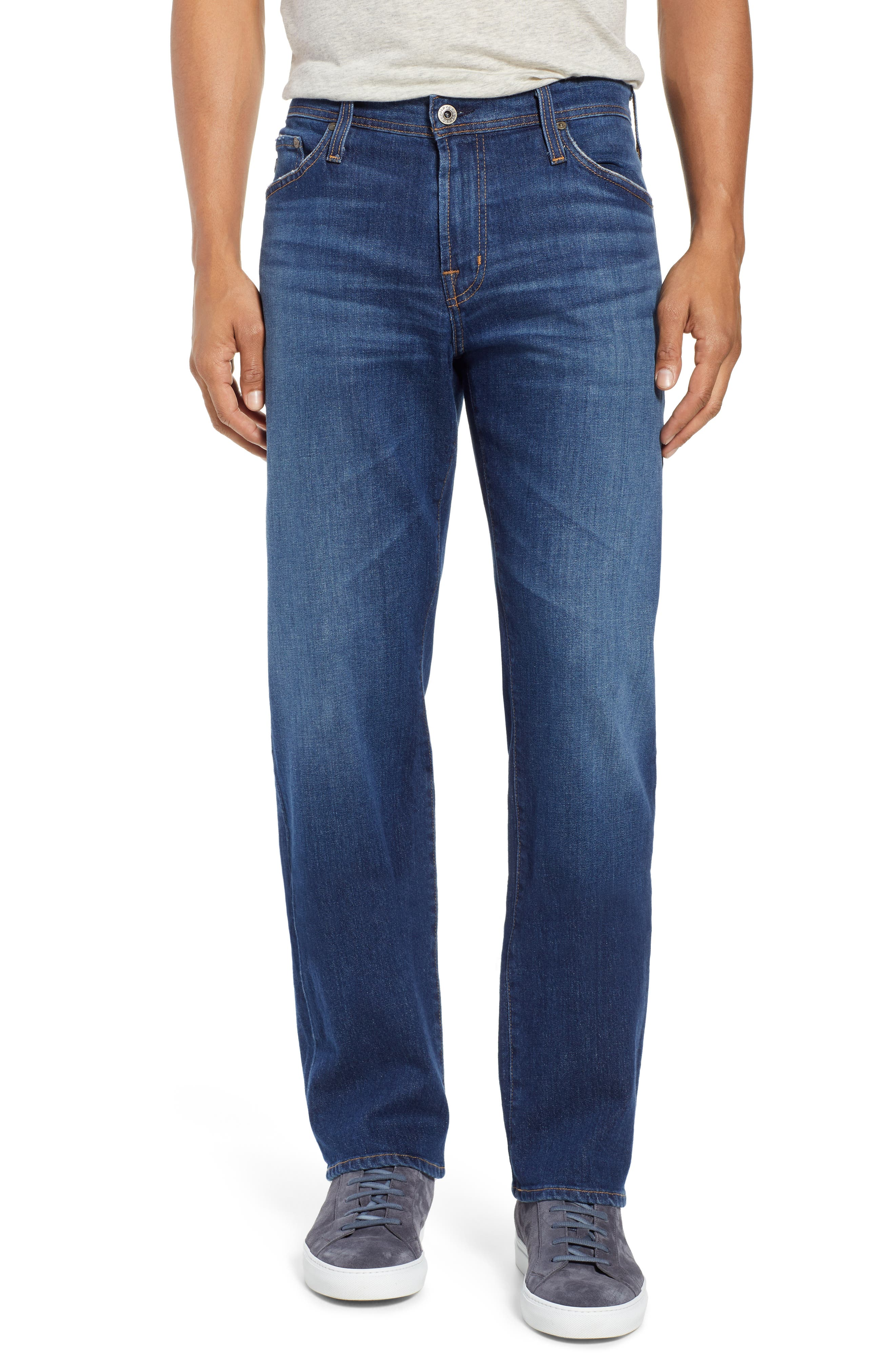 AG Graduate Slim Straight Leg Jeans, Main, color, RECRUIT