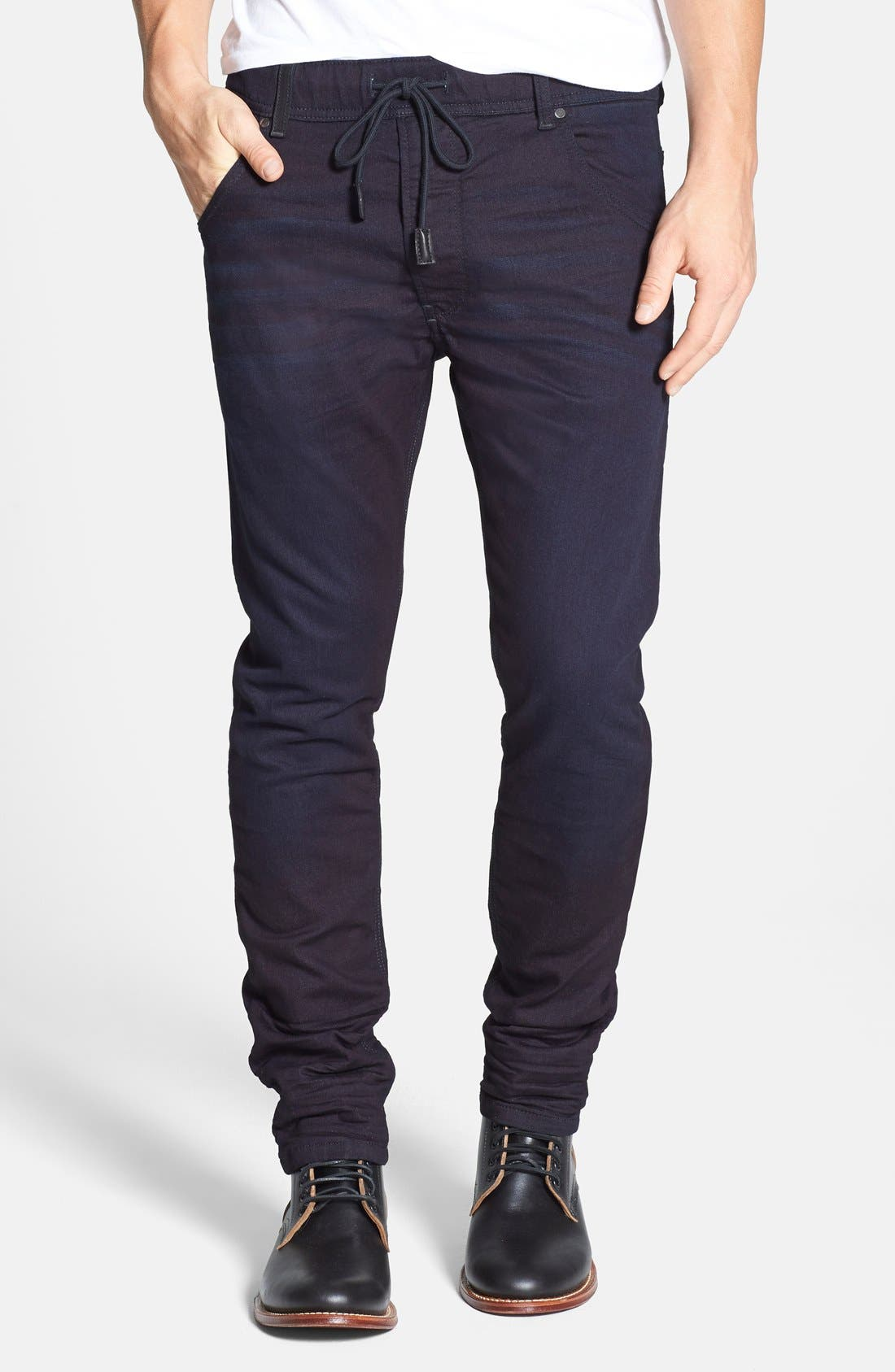 DIESEL<SUP>®</SUP>, Krooley Jogg Slouchy Skinny Fit Jeans, Main thumbnail 1, color, 0829P