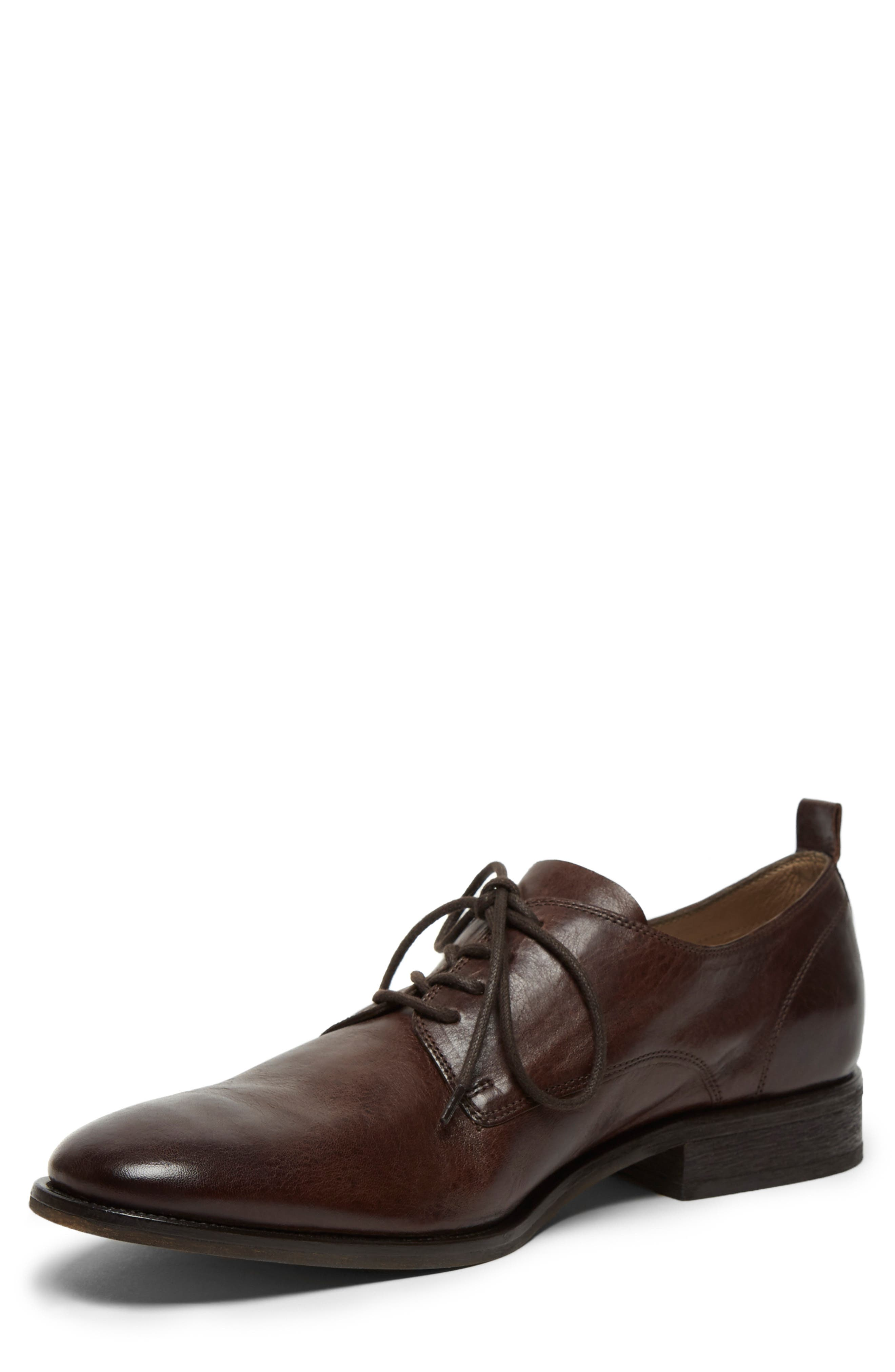 KENNETH COLE NEW YORK, Indio Plain Toe Derby, Alternate thumbnail 4, color, BROWN LEATHER