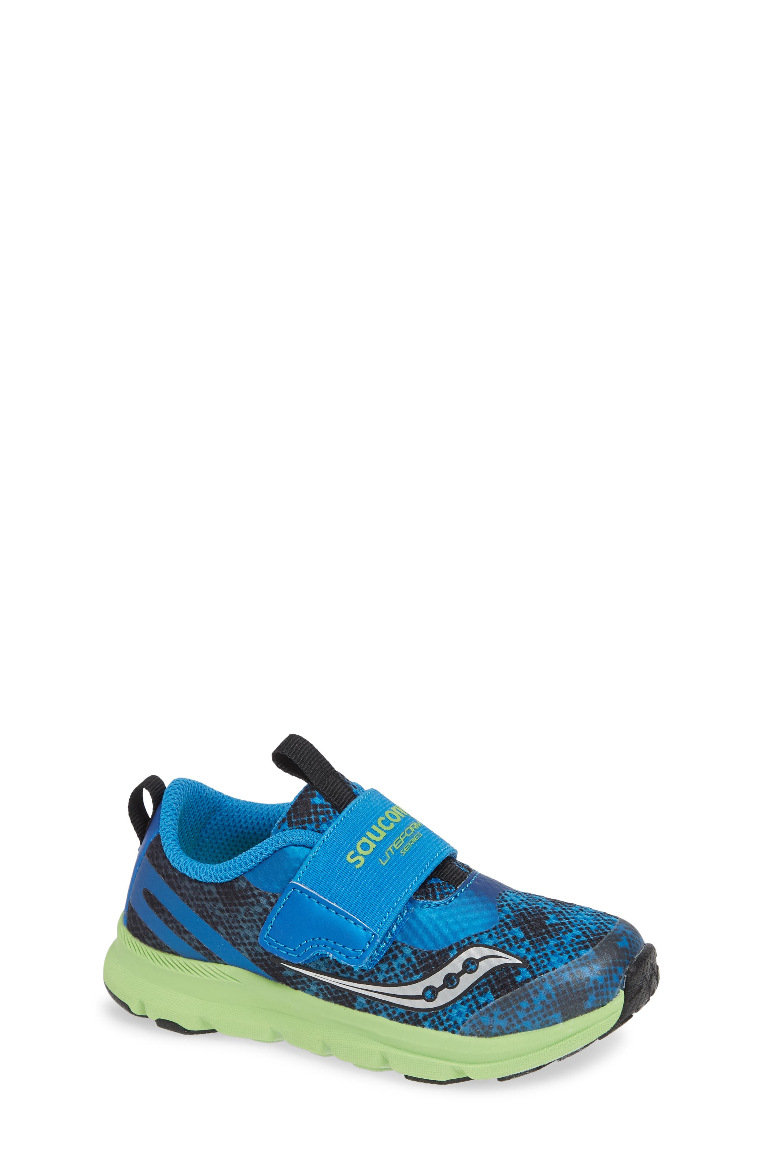 SAUCONY, Baby Liteform Sneaker, Main thumbnail 1, color, BLUE/ GREEN