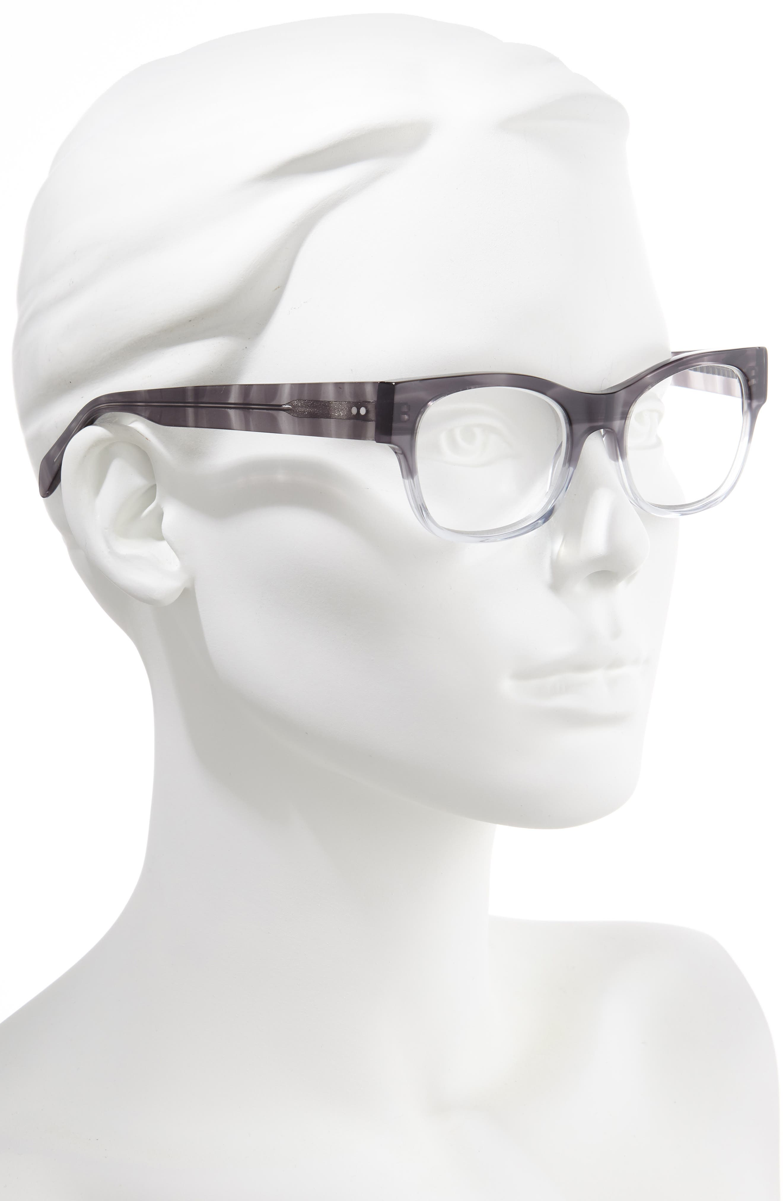 CORINNE MCCORMACK, Marty 51mm Reading Glasses, Alternate thumbnail 2, color, GREY FADE