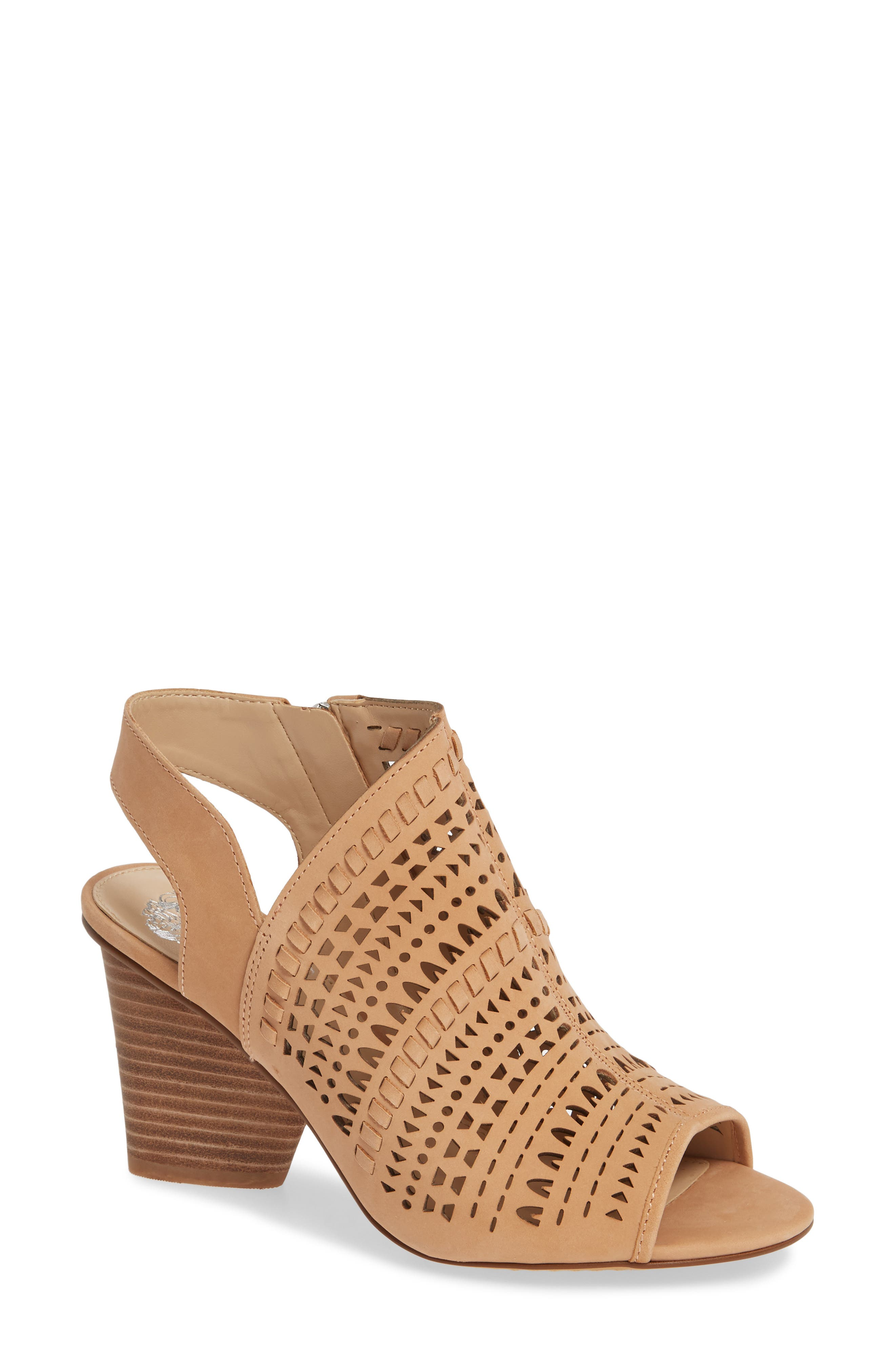 Vince Camuto Derechie Perforated Shield Sandal, Beige