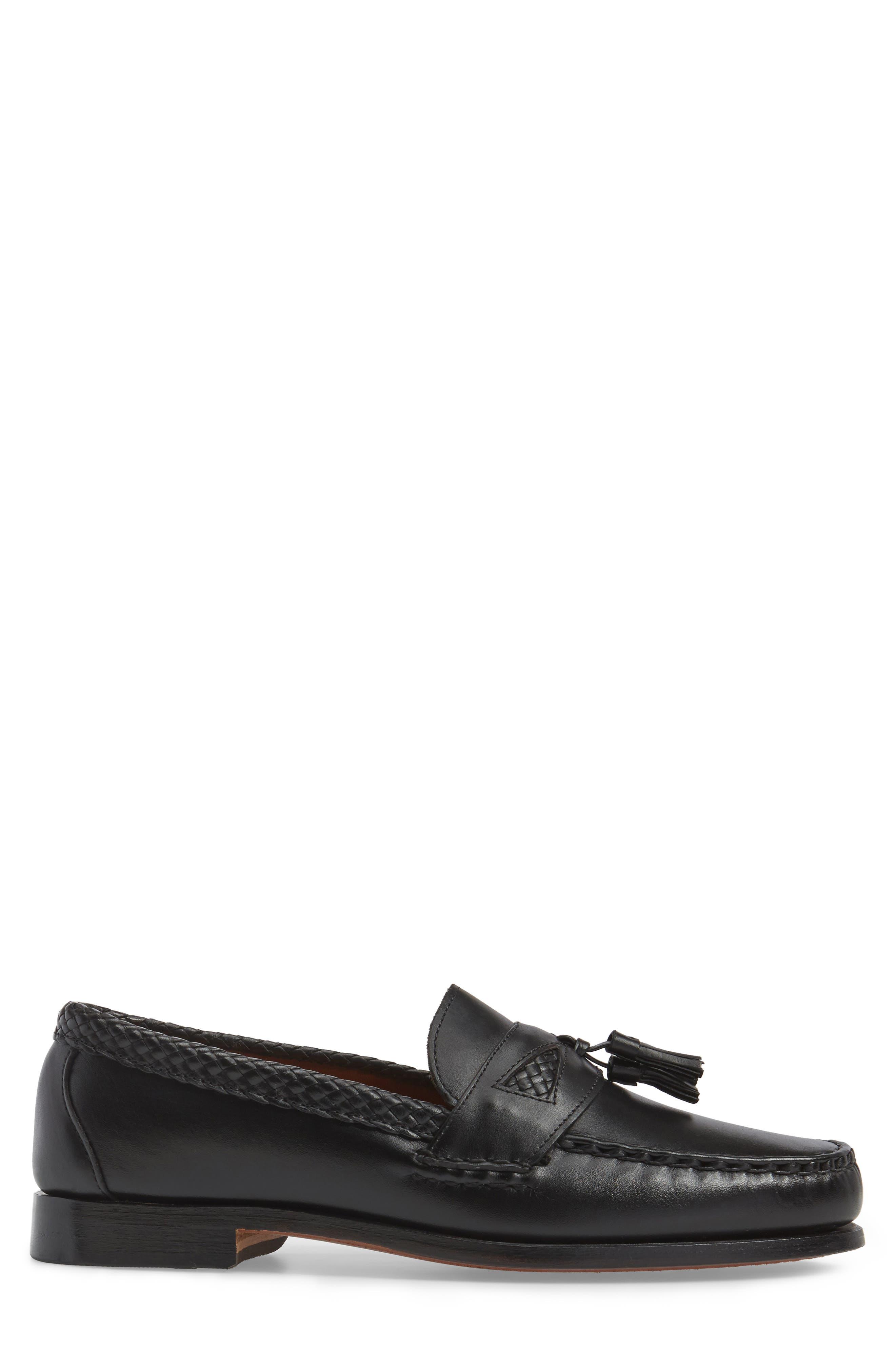 ALLEN EDMONDS, 'Maxfield' Loafer, Alternate thumbnail 3, color, BLACK