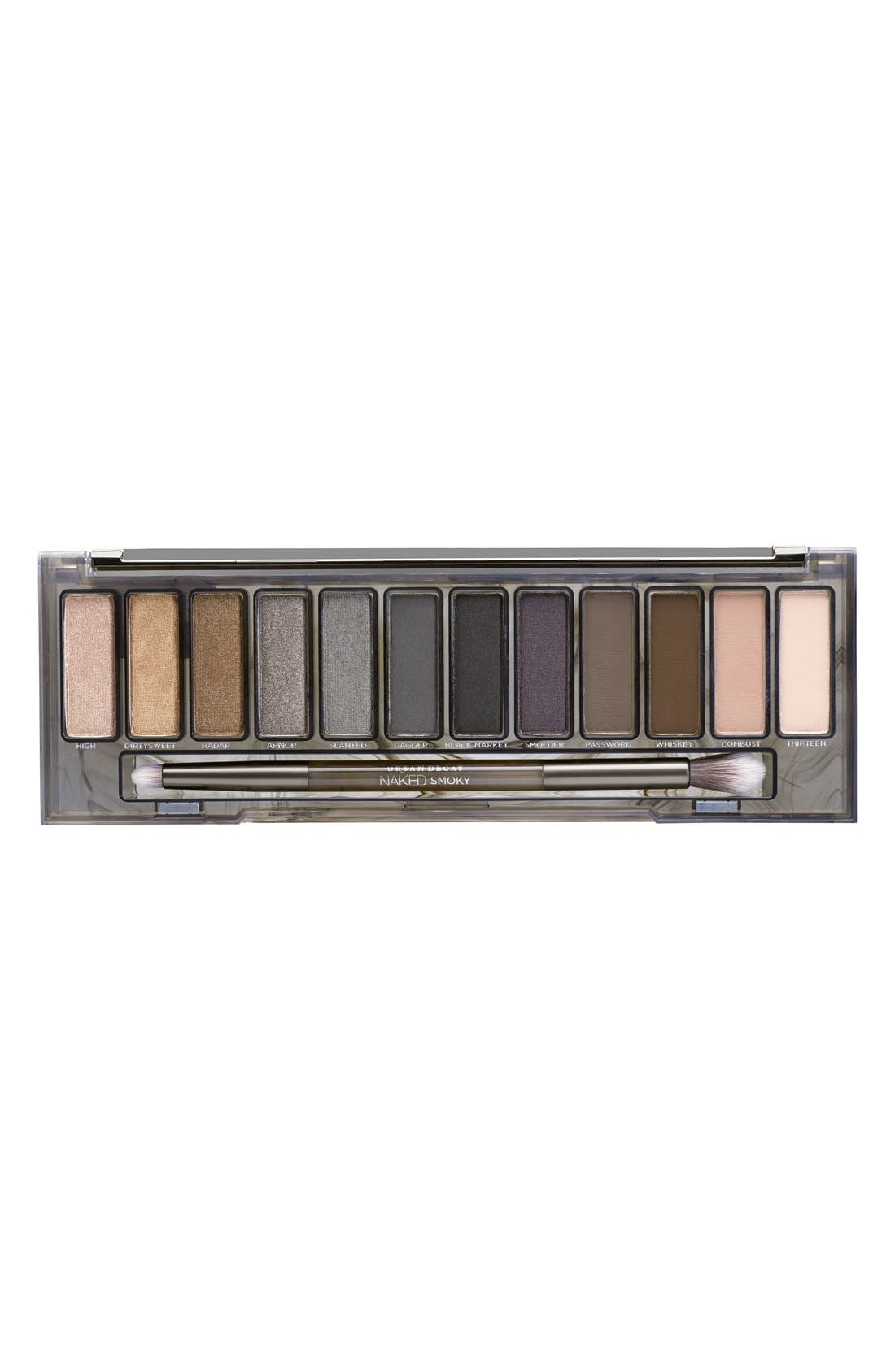 URBAN DECAY, 'Naked Smoky' Palette, Alternate thumbnail 2, color, 000