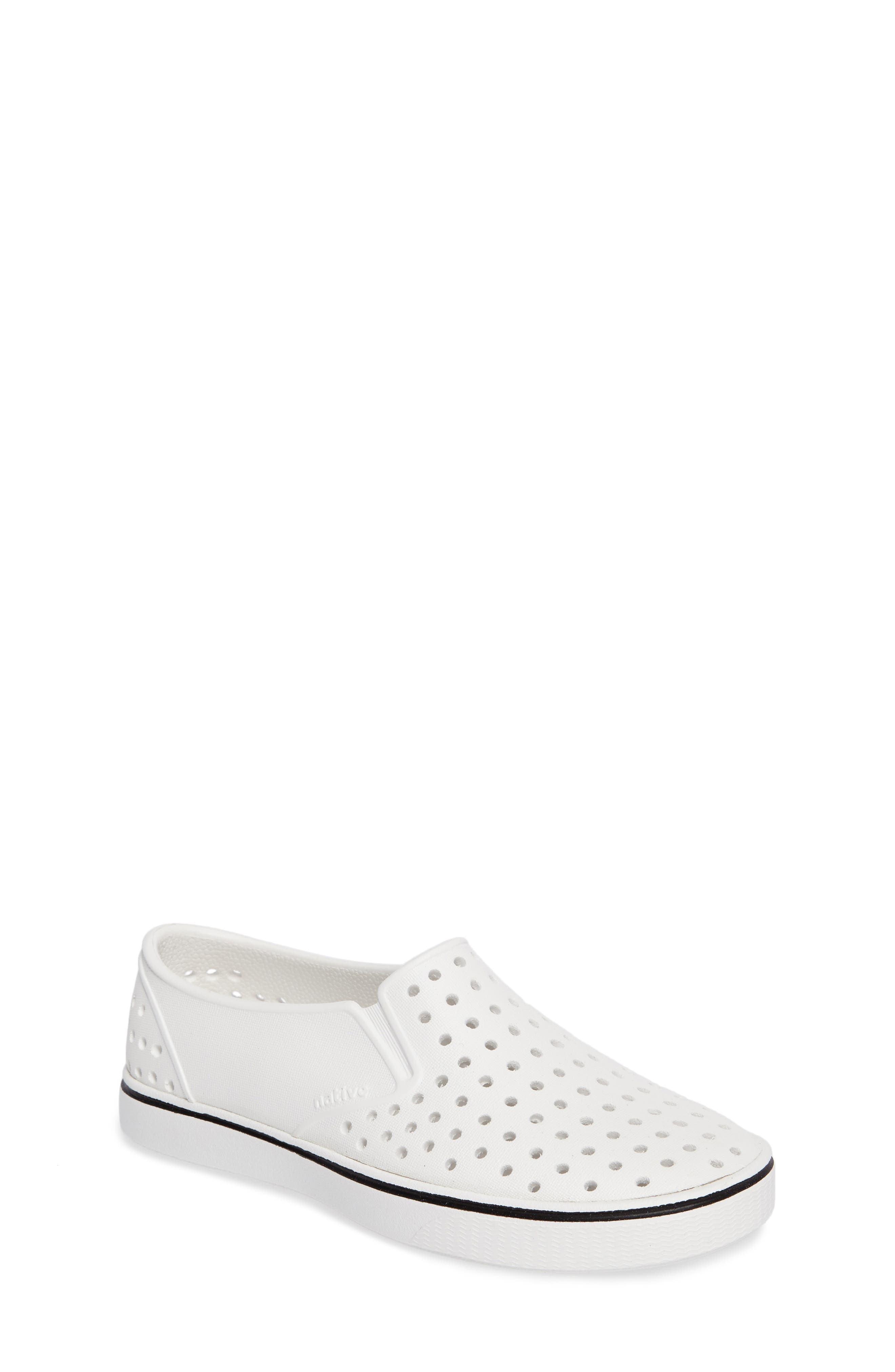 NATIVE SHOES Miles Water Friendly Slip-On Sneaker, Main, color, SHELL WHITE