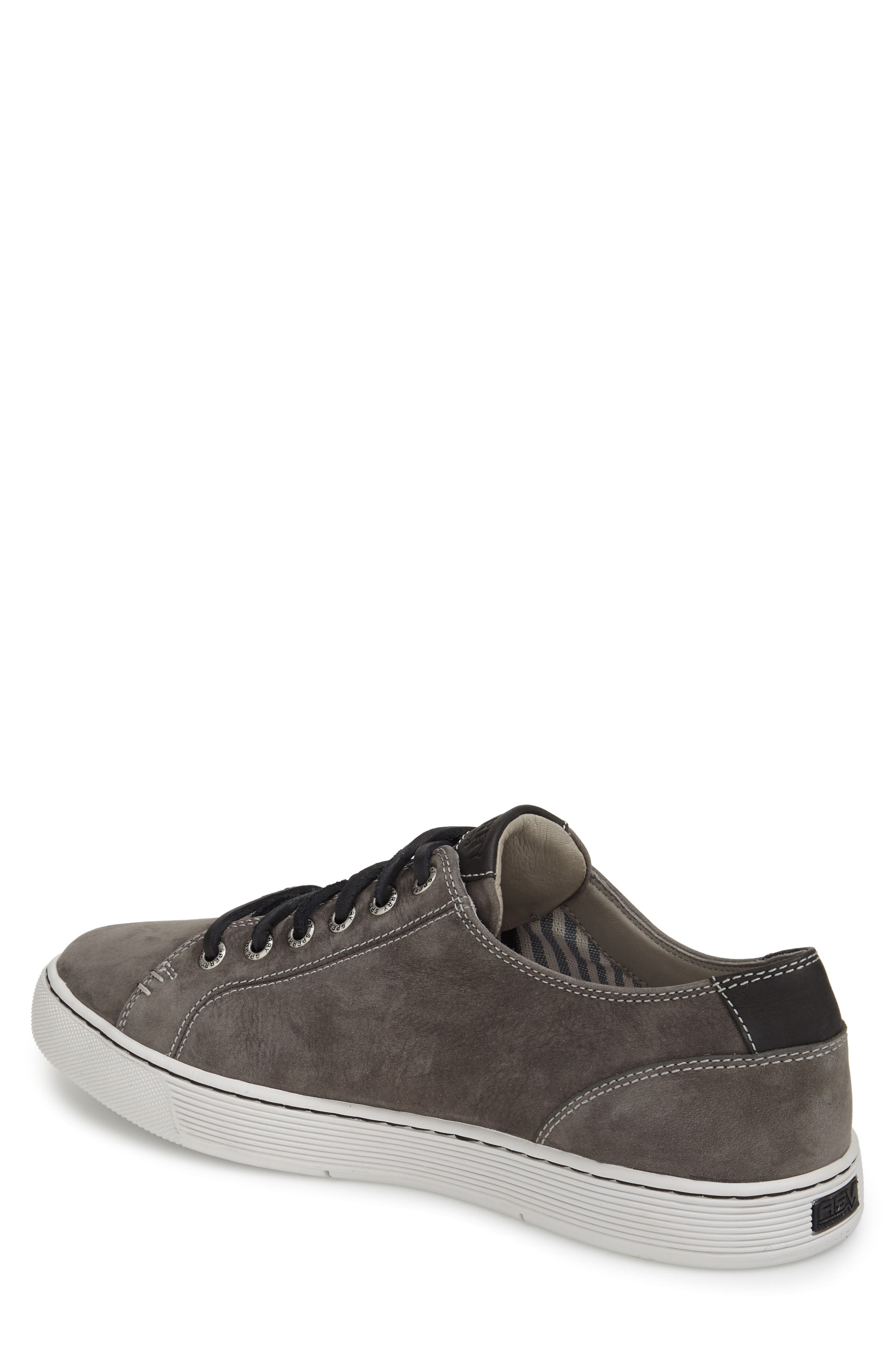 SPERRY, Gold Cup LLT Sneaker, Alternate thumbnail 4, color, GREY SUEDE