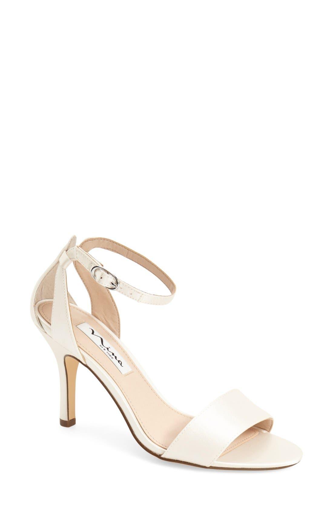 NINA 'Venetia' Ankle Strap Sandal, Main, color, IVORY