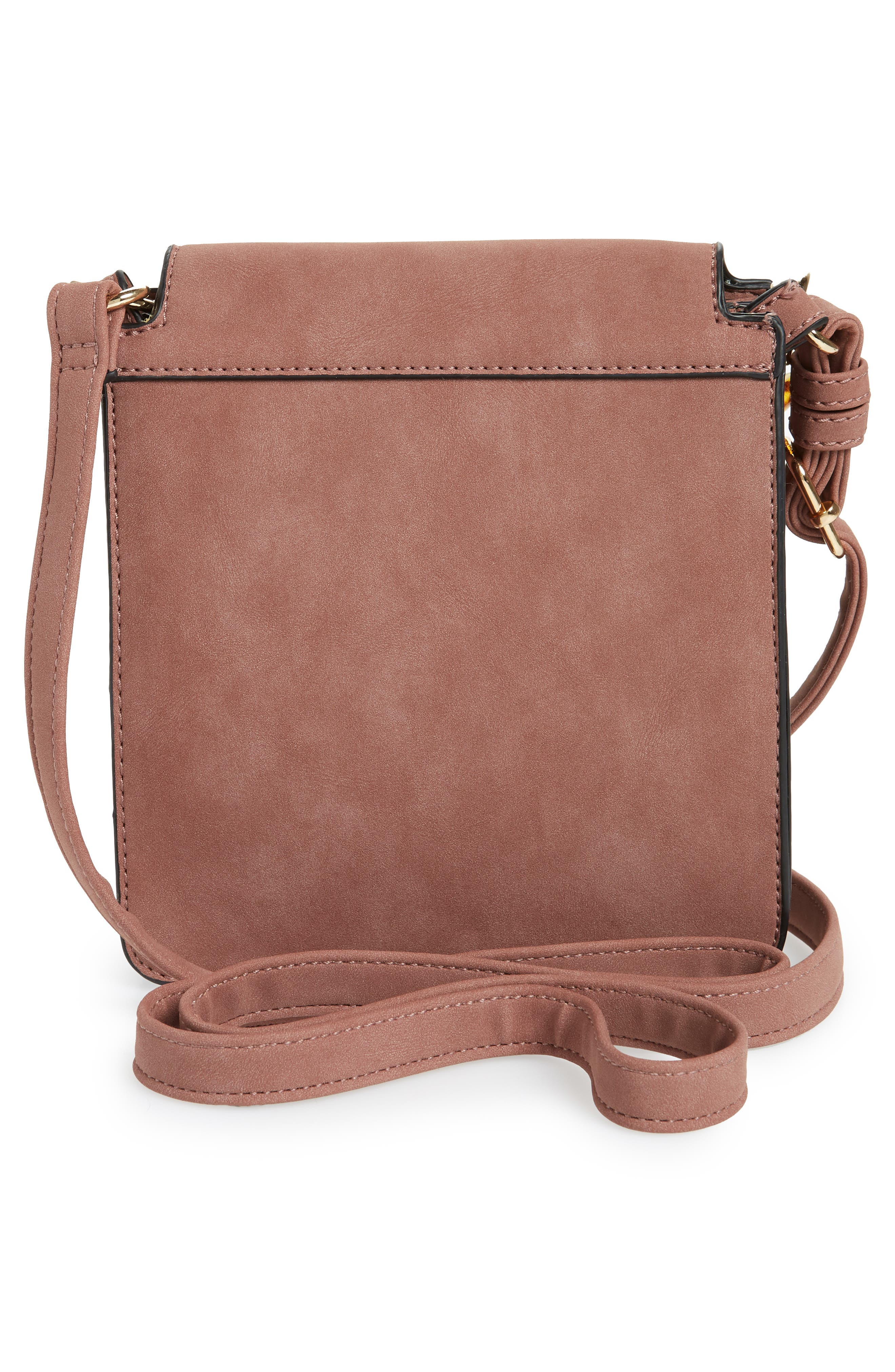 VIOLET RAY NEW YORK, Faux Leather Crossbody Bag, Alternate thumbnail 4, color, 250