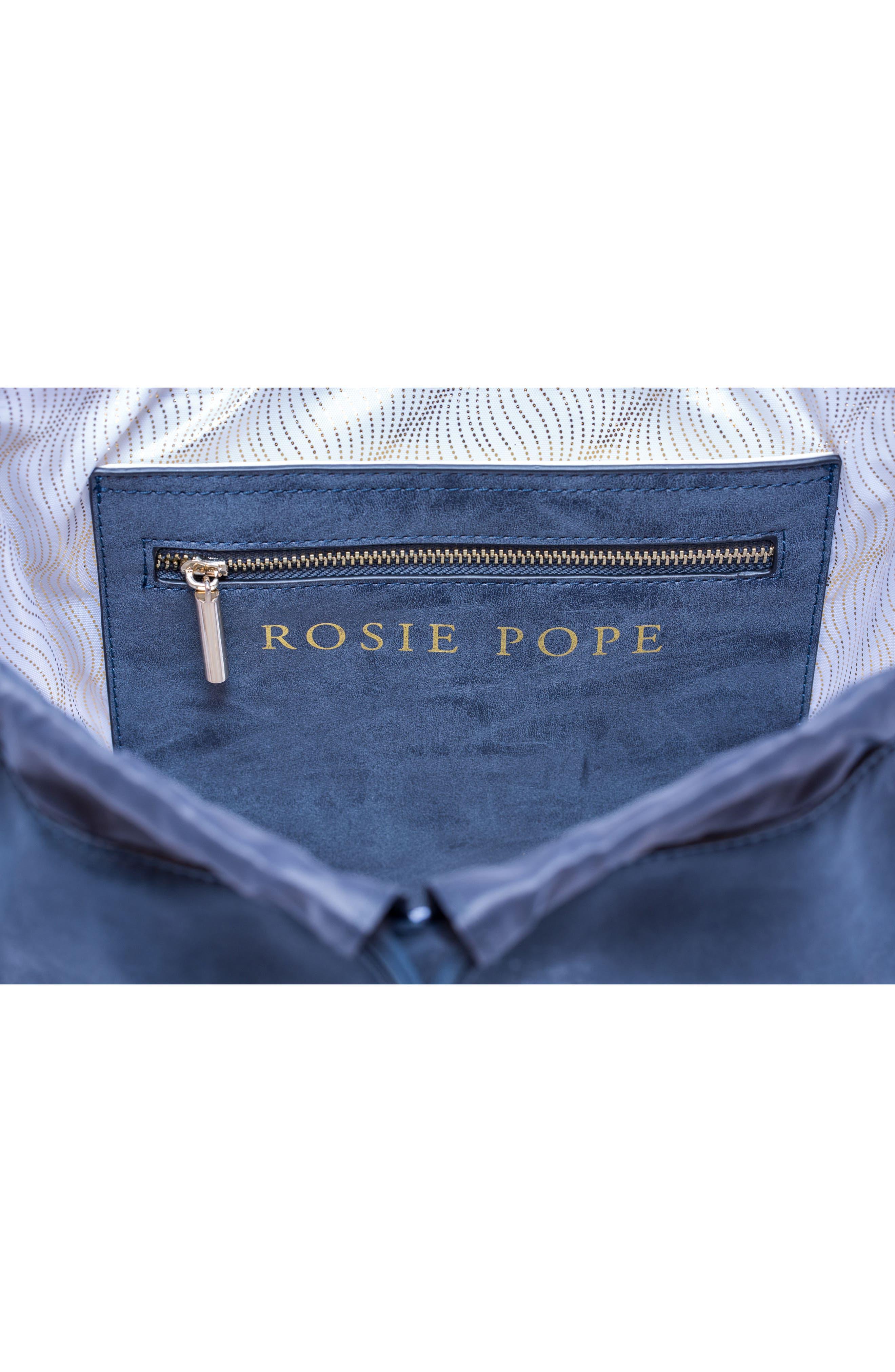 ROSIE POPE, Highbury Hill Diaper Backpack, Alternate thumbnail 6, color, DUSTY NAVY