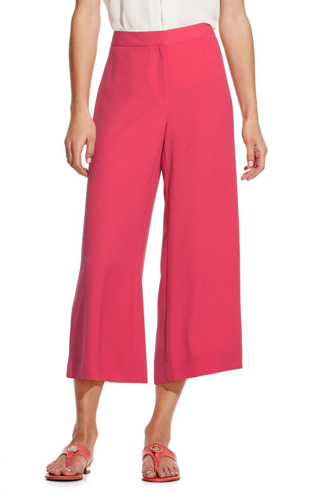 VINCE CAMUTO Zip Front Culottes, Main, color, 630