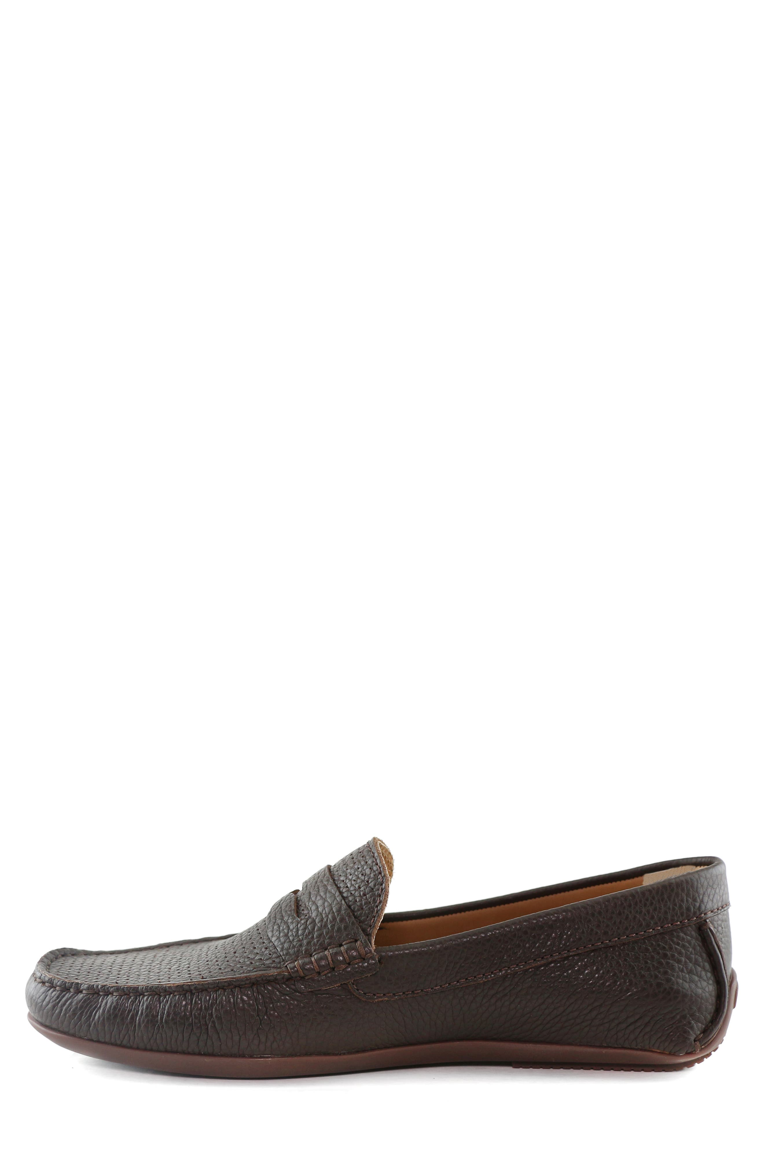 MARC JOSEPH NEW YORK, 'Union Street' Penny Loafer, Alternate thumbnail 9, color, BROWN GRAINY LEATHER