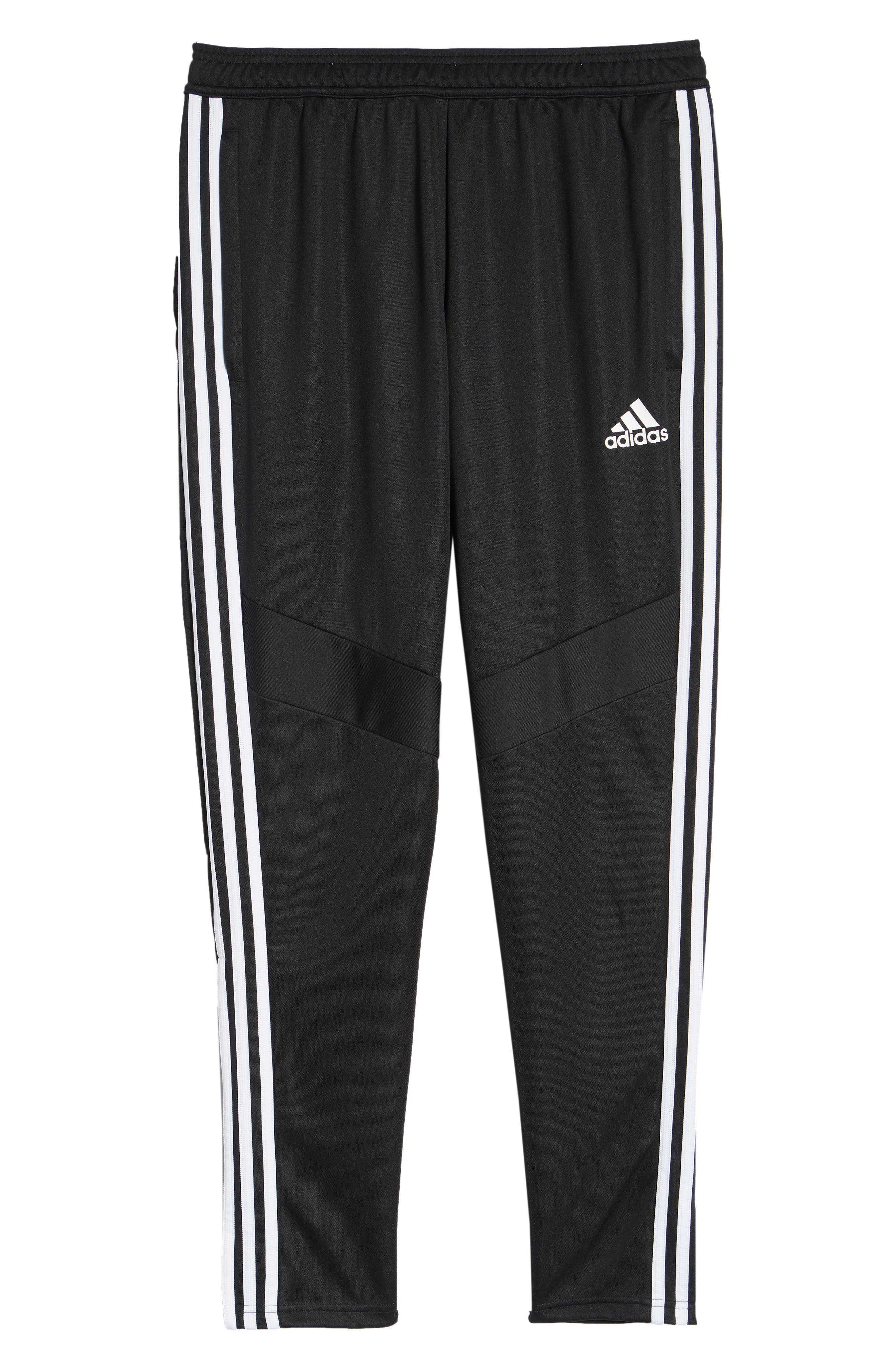 ADIDAS, Tiro Soccer Training Pants, Alternate thumbnail 7, color, BLACK/ WHITE