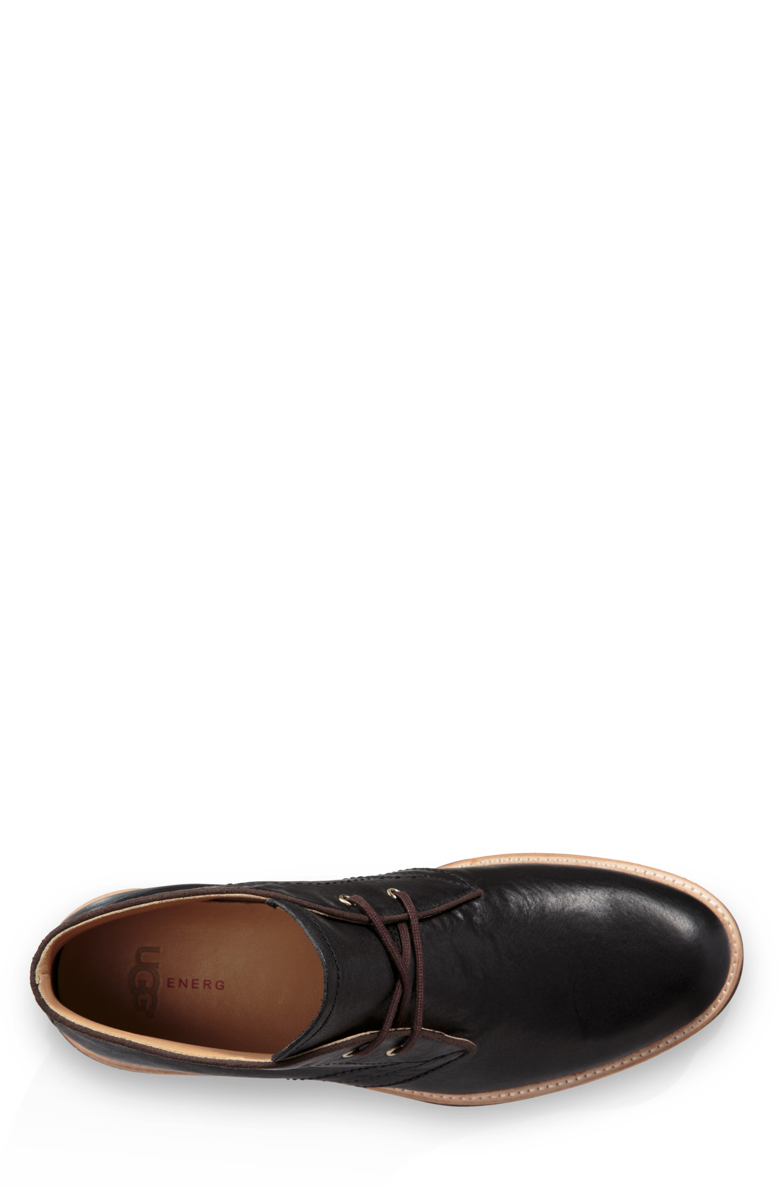 UGG<SUP>®</SUP>, Australia Dagmann Chukka Boot, Alternate thumbnail 4, color, BLACK LEATHER/SUEDE
