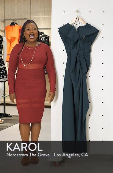 Side Ruched Off the Shoulder Gown, sales video thumbnail