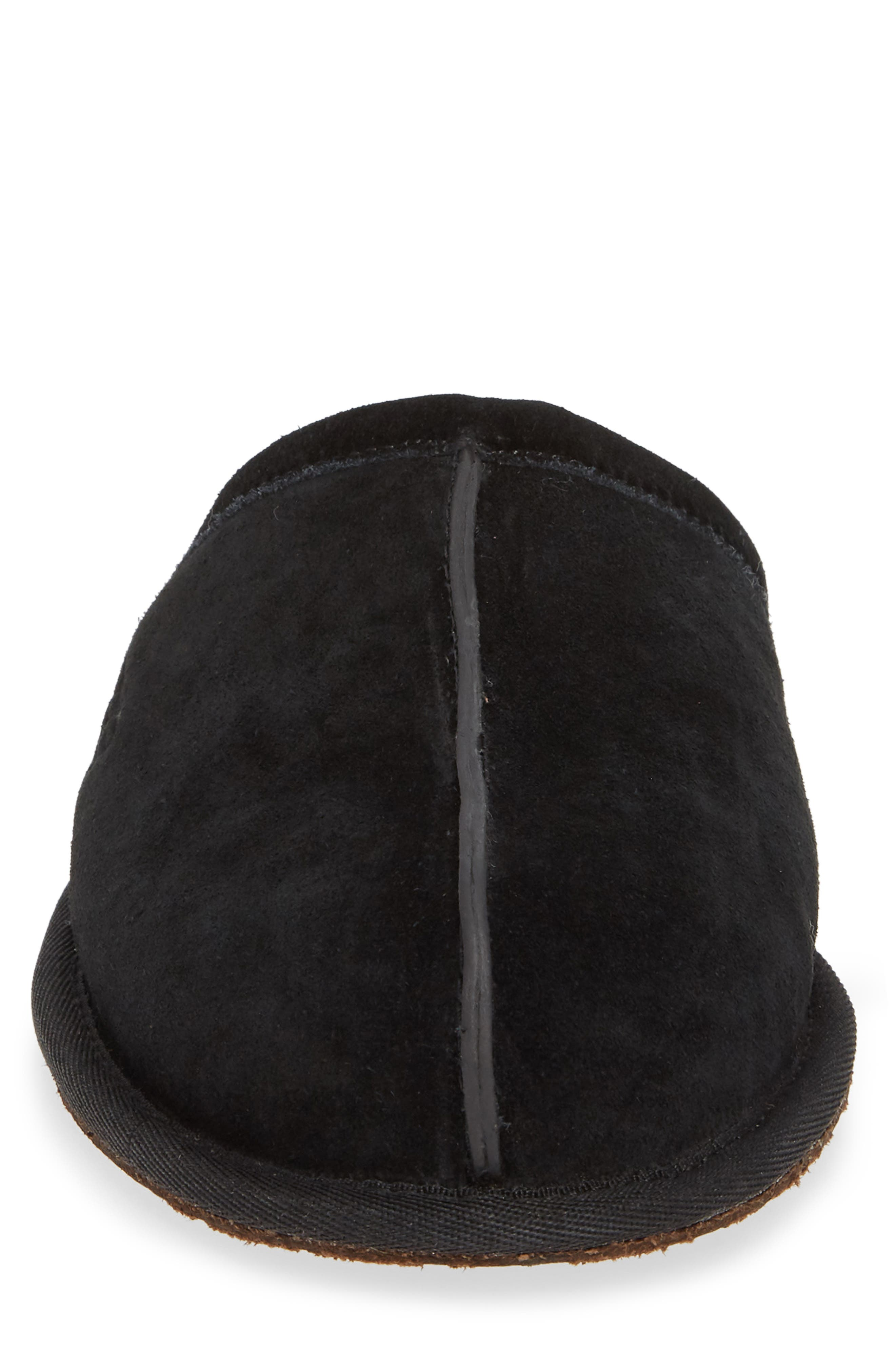 UGG<SUP>®</SUP>, Scuff Slipper, Alternate thumbnail 4, color, BLACK SUEDE